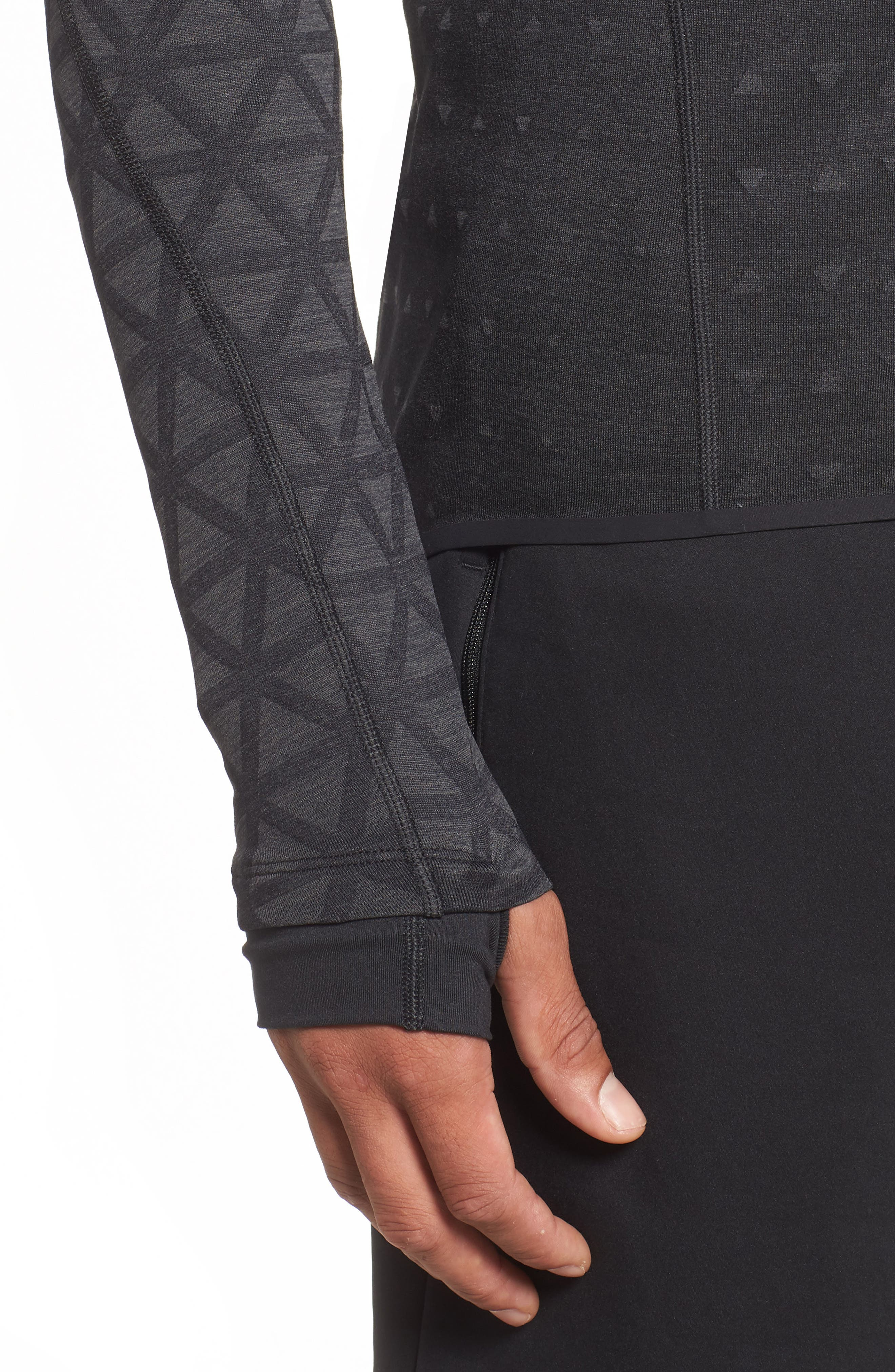 Therma Sphere Hooded Training Top,                             Alternate thumbnail 4, color,                             BLACK/ ANTHRACITE/ ANTHRACITE