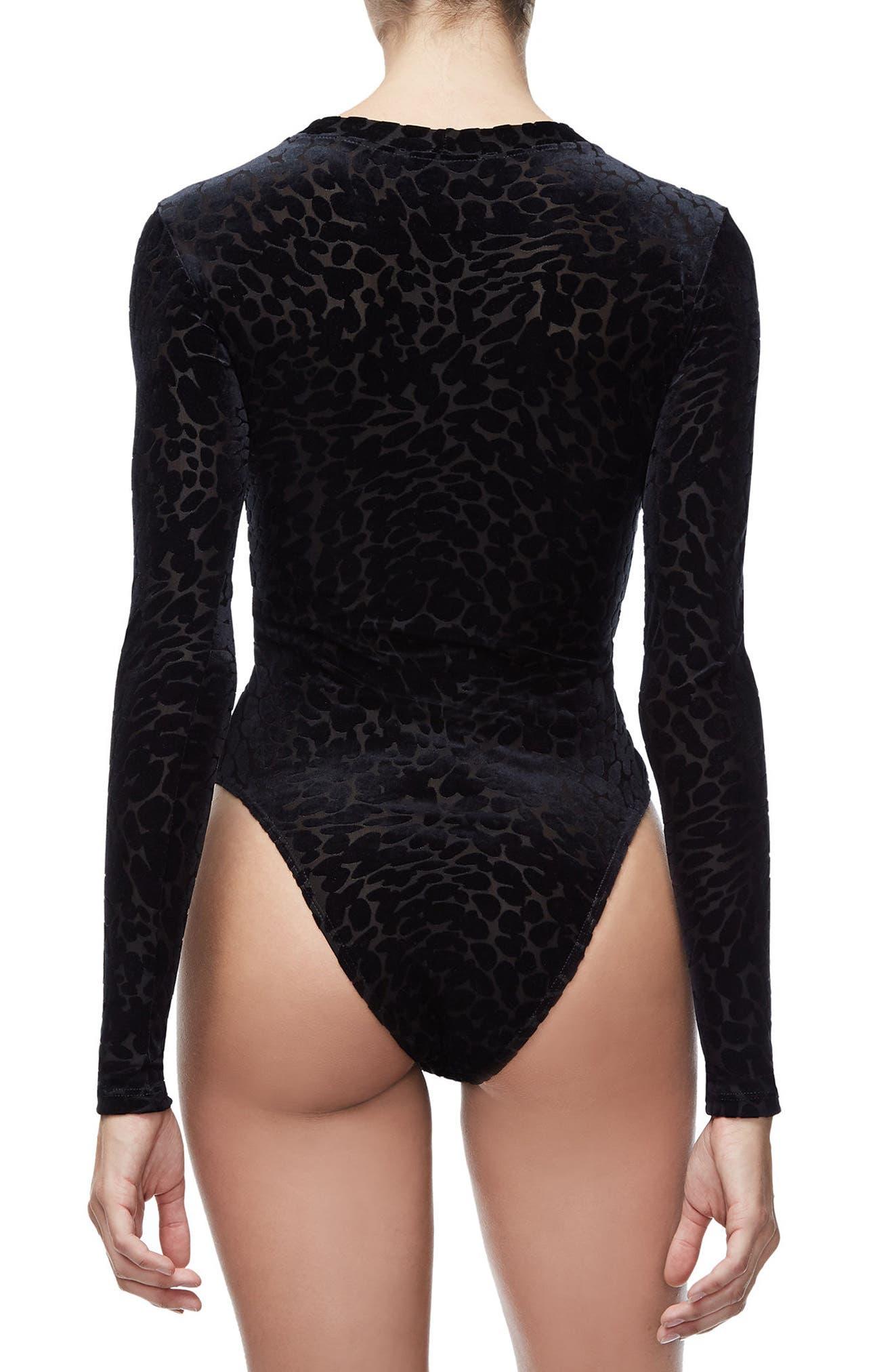 The Wilder One Bodysuit,                             Alternate thumbnail 3, color,                             BLACK001