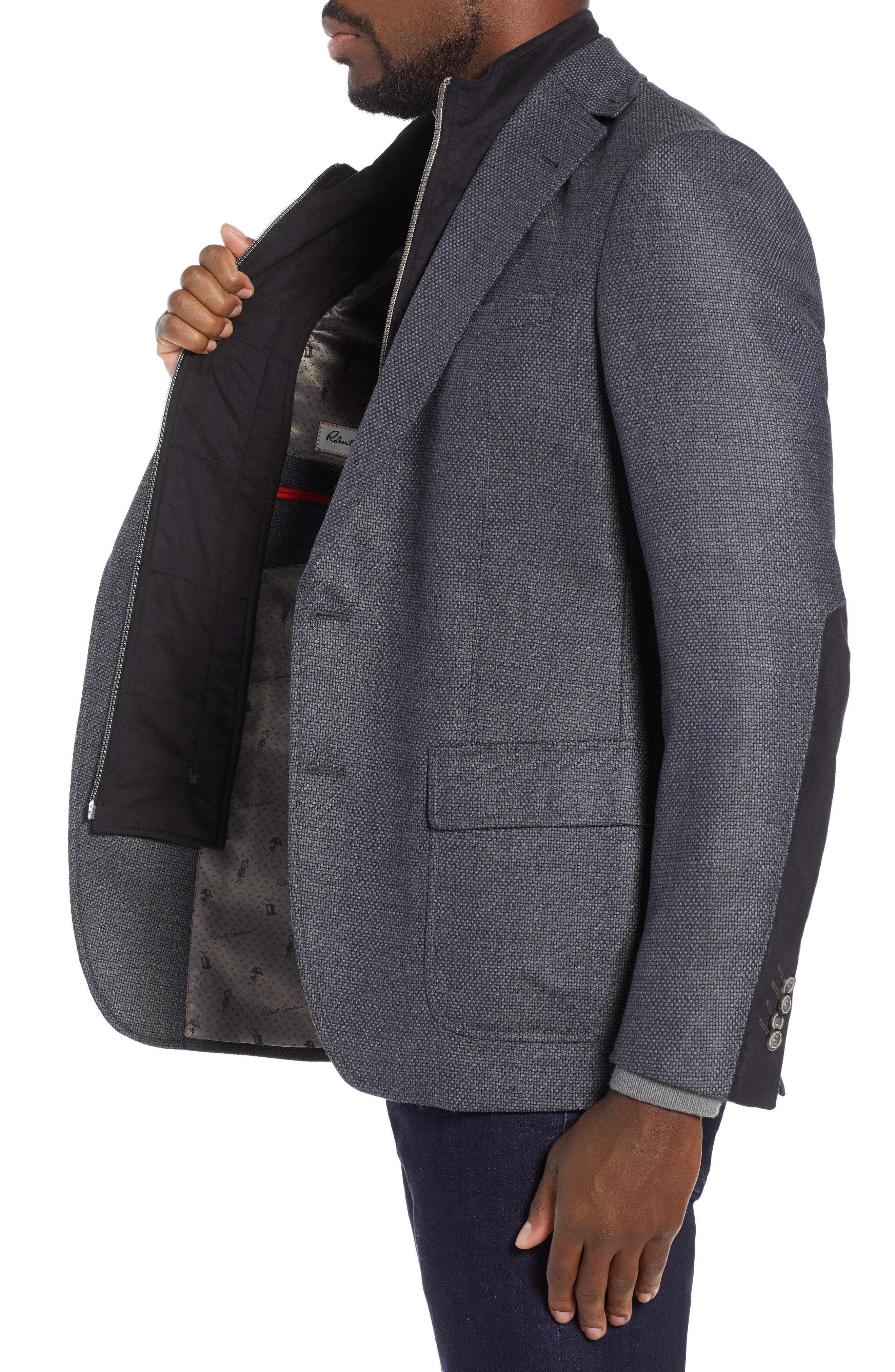 Downhill Sport Coat with Removable Bib,                             Alternate thumbnail 3, color,                             NAVY