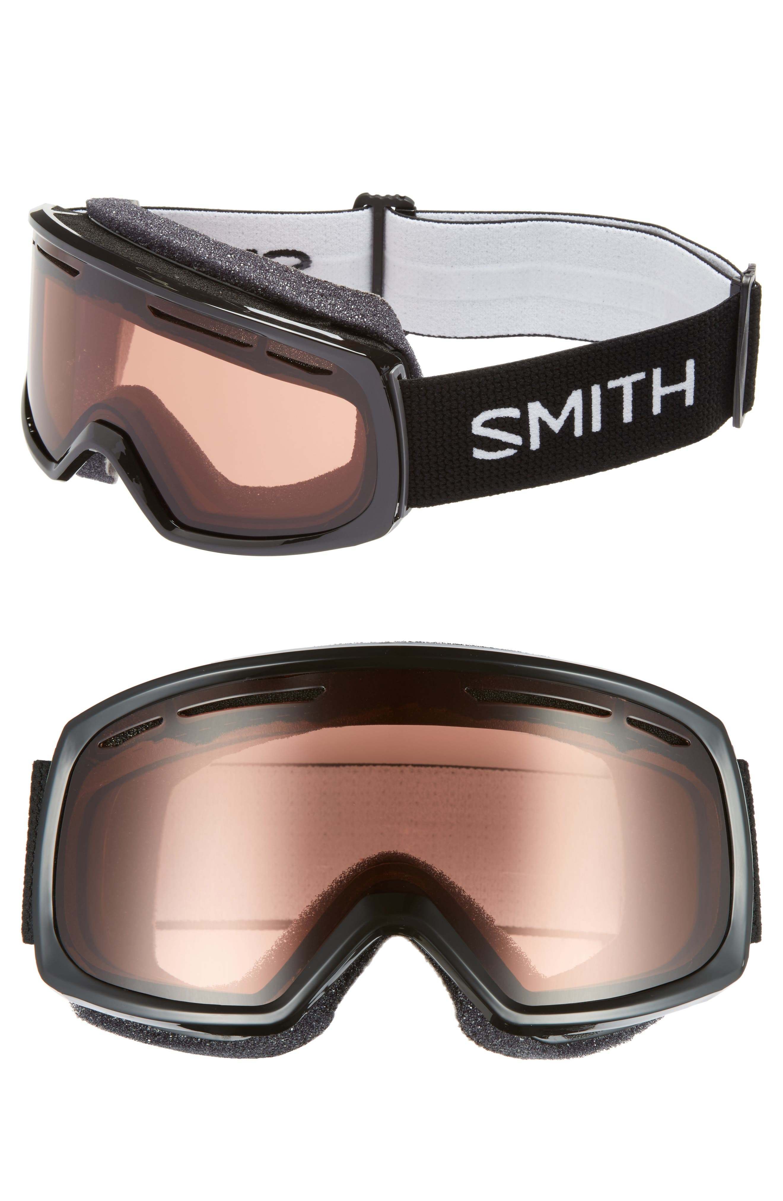 Drift 180mm Snow Goggles,                             Main thumbnail 1, color,                             BLACK/ RC36