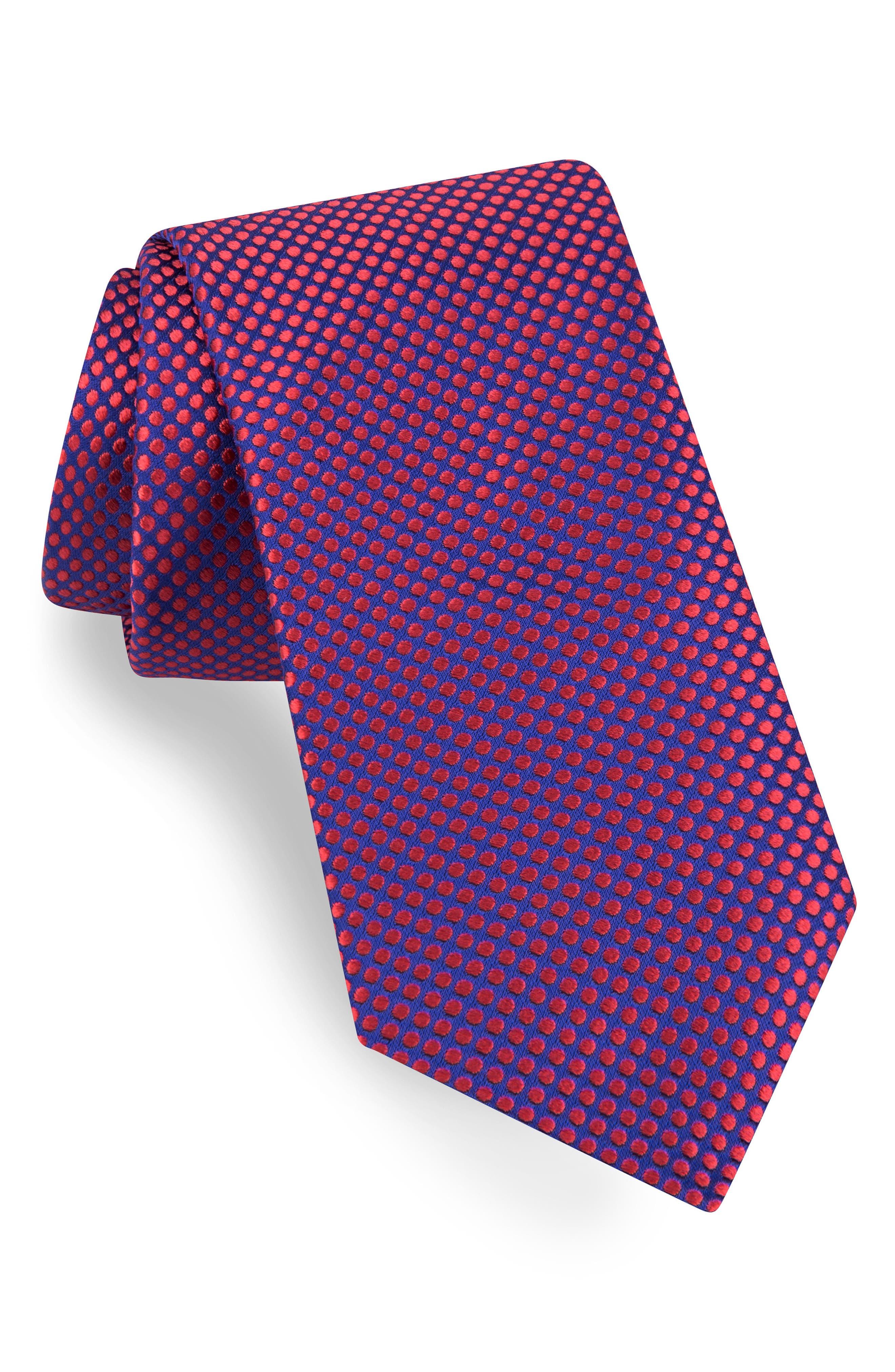 Dot Silk Tie,                             Main thumbnail 3, color,