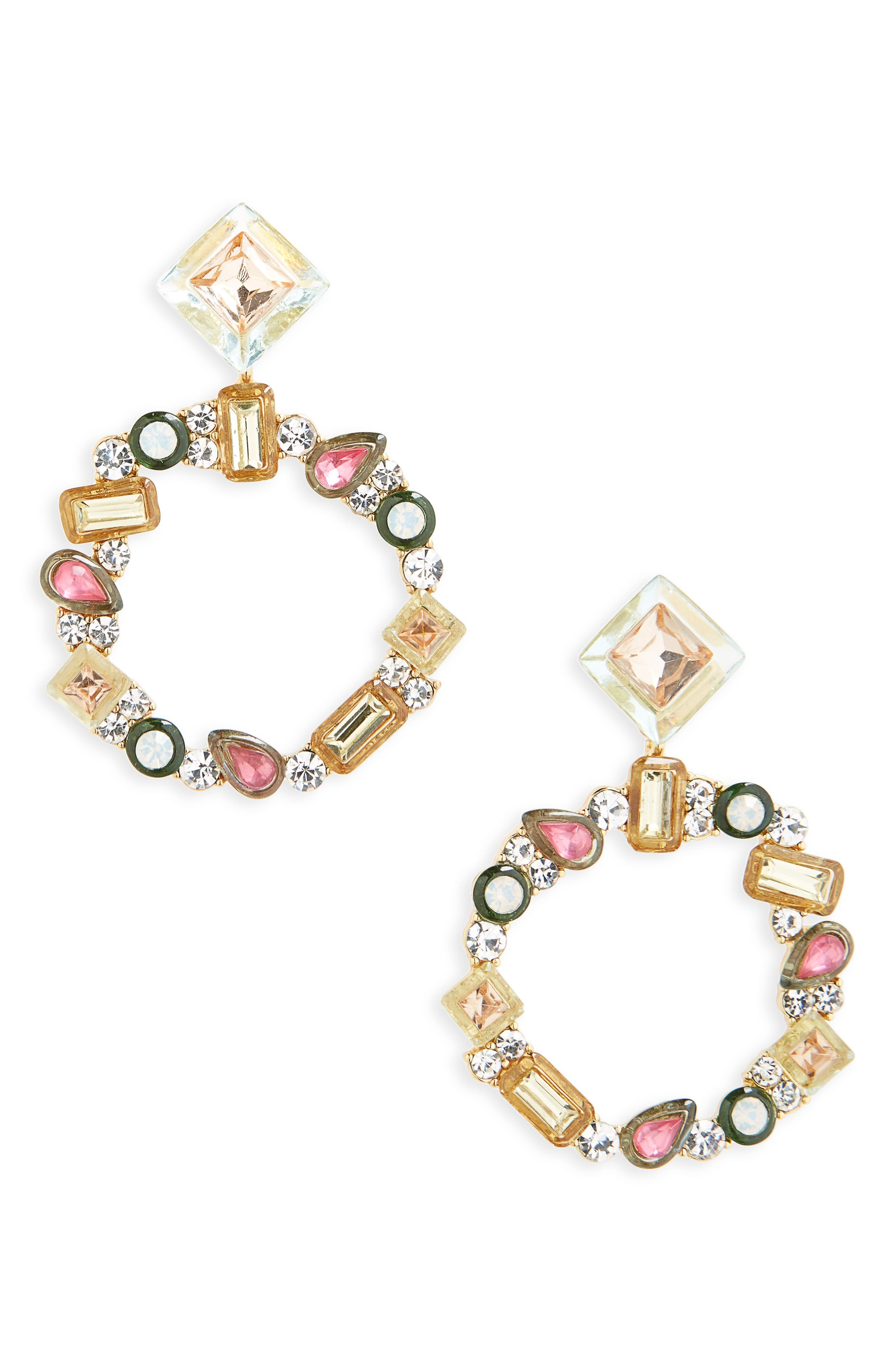 Leora Hoop Earrings,                             Main thumbnail 1, color,                             650