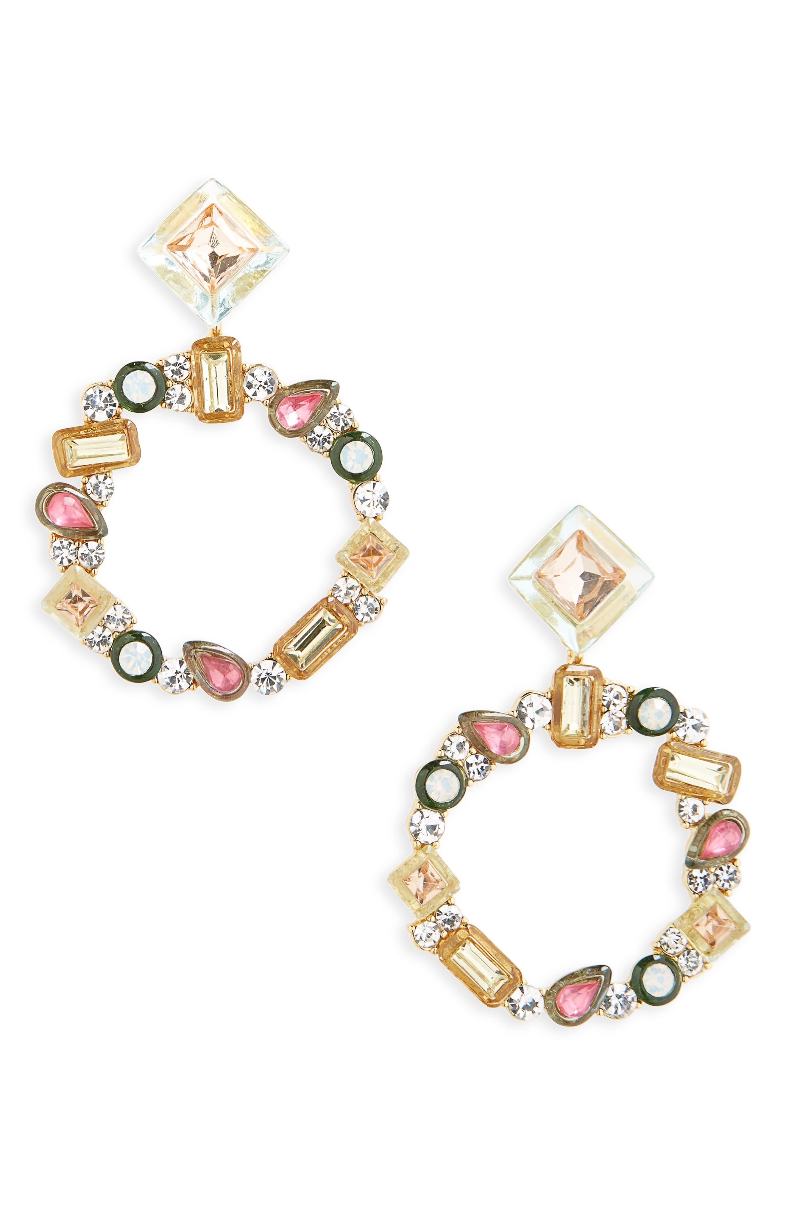 Leora Hoop Earrings,                         Main,                         color, 650