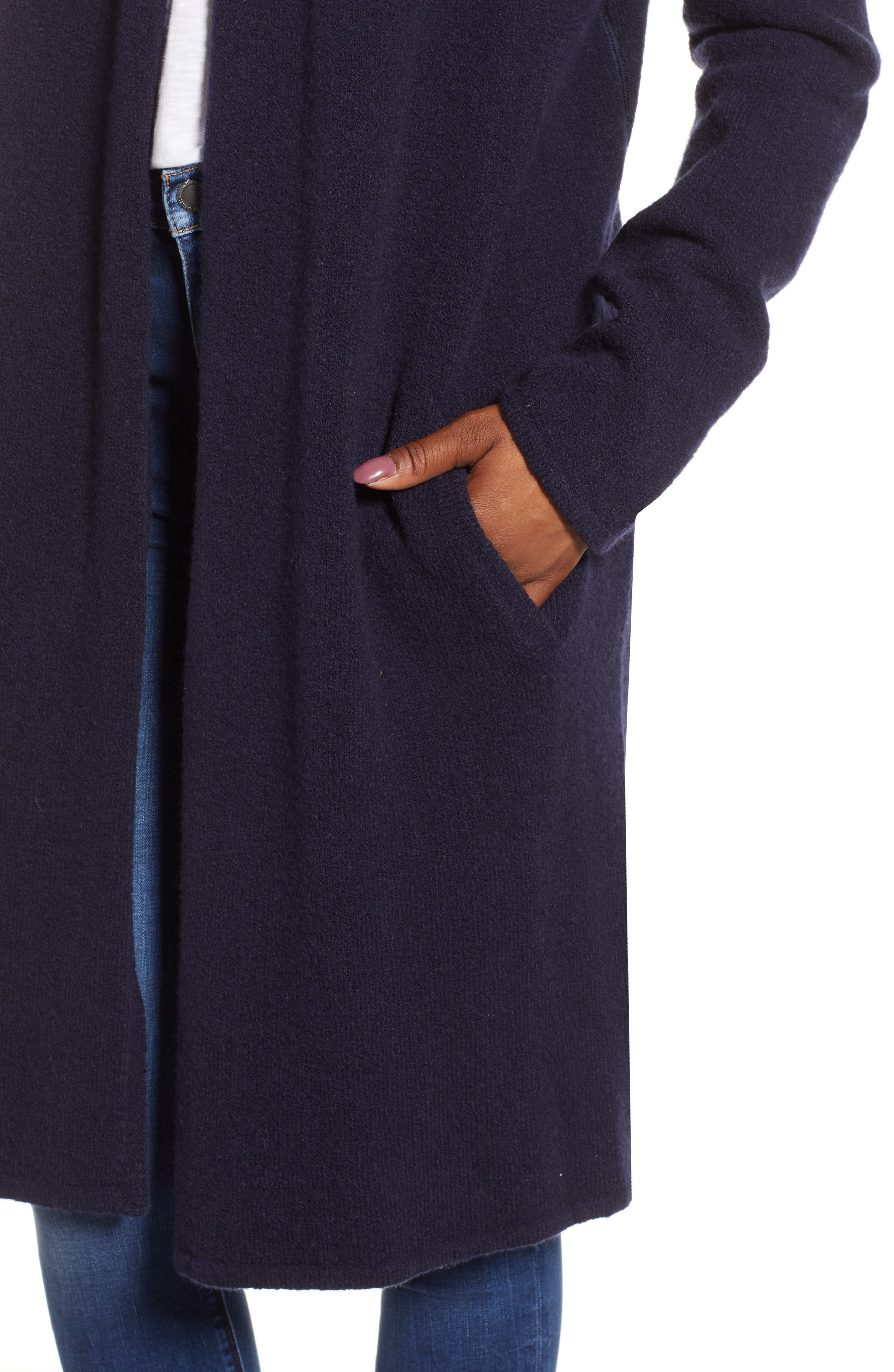 Shawl Collar Cardigan,                             Alternate thumbnail 4, color,                             NAVY