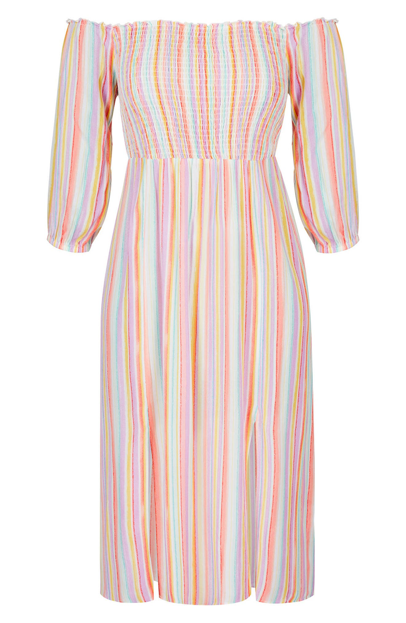 Island Stripe Midi Dress,                             Alternate thumbnail 3, color,                             ISLAND STRIPE