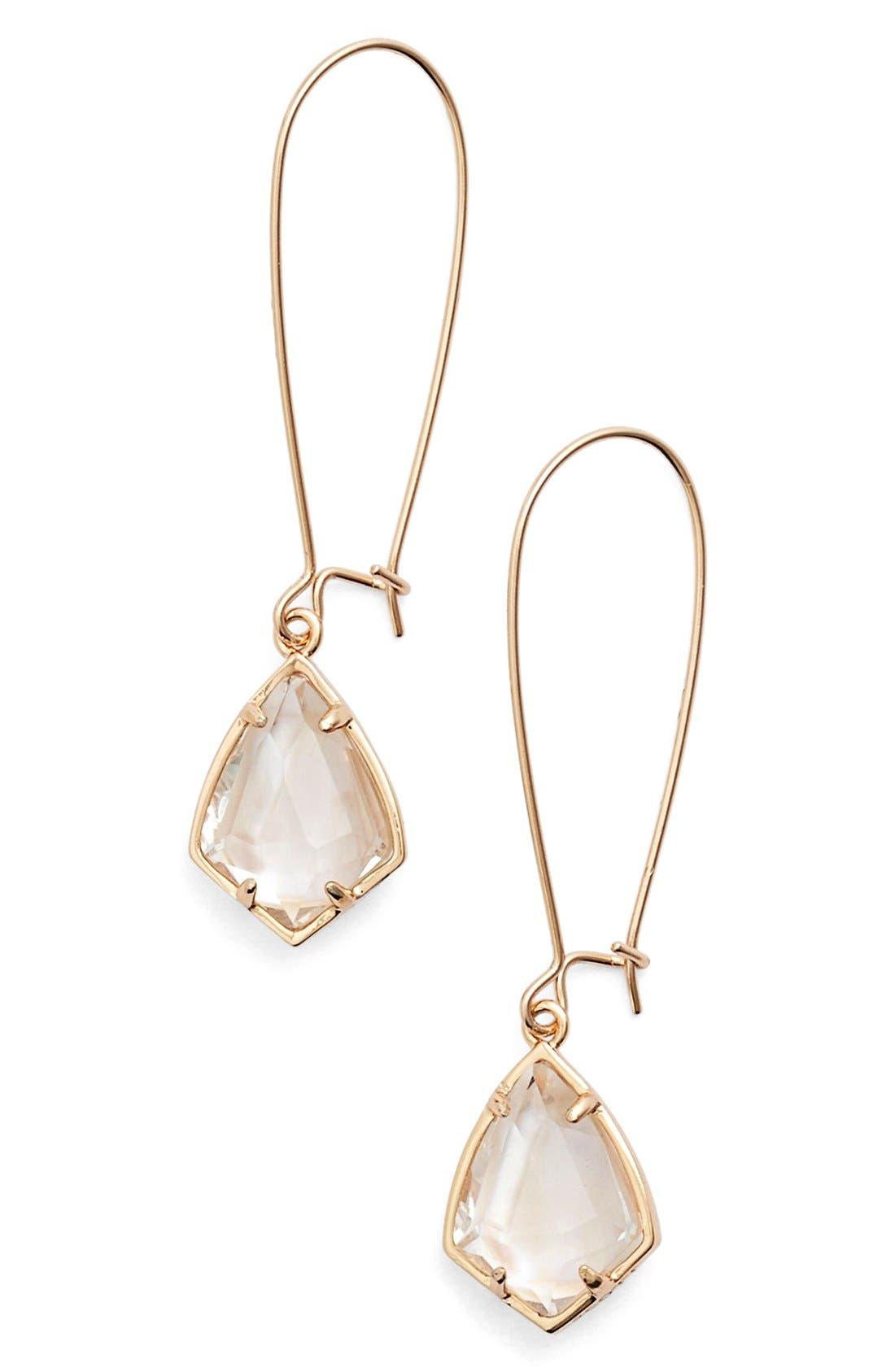 'Carrine' Semiprecious Stone Drop Earrings,                             Main thumbnail 2, color,