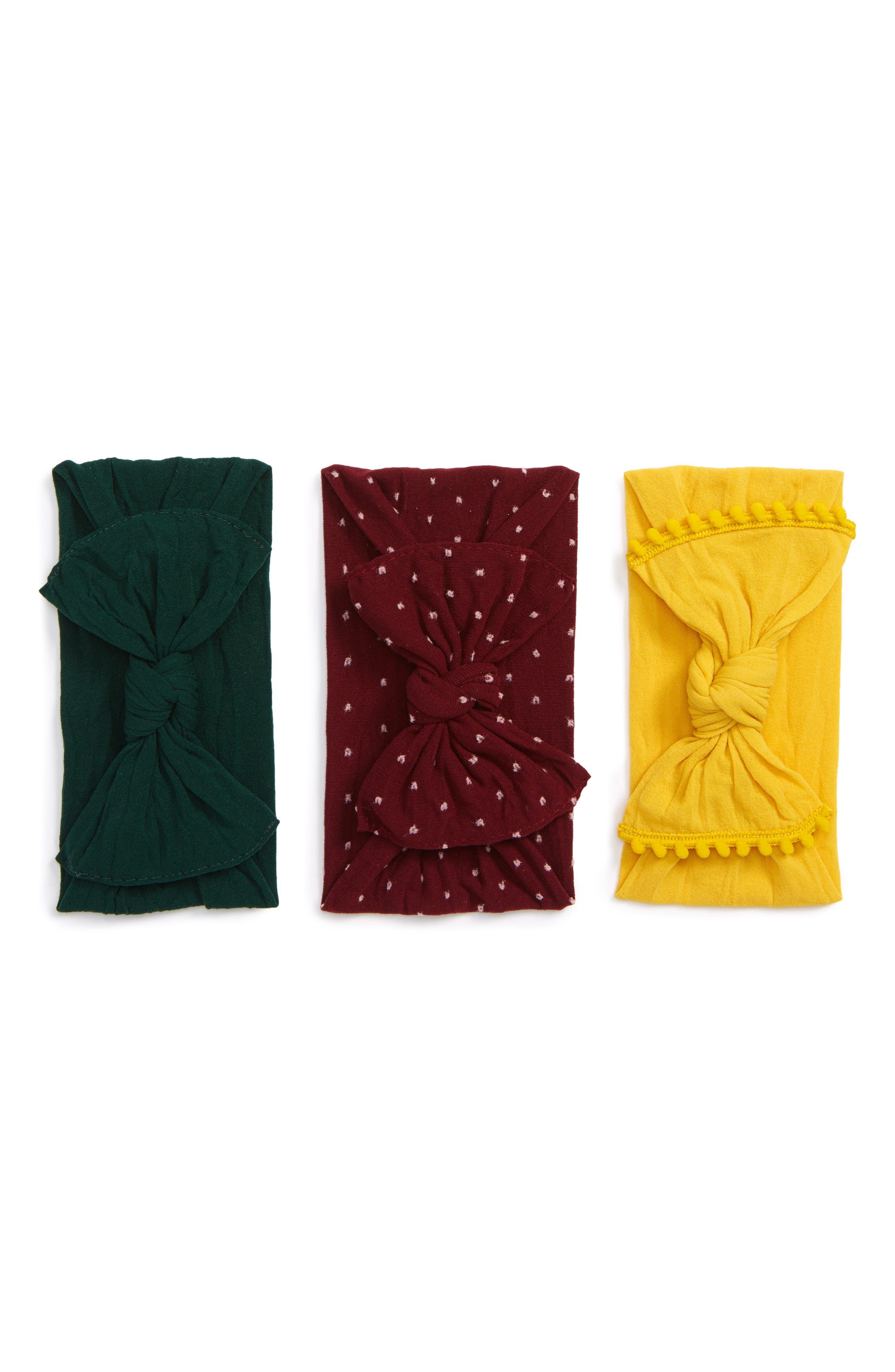 3-Pack Knot Headbands,                             Main thumbnail 1, color,                             930