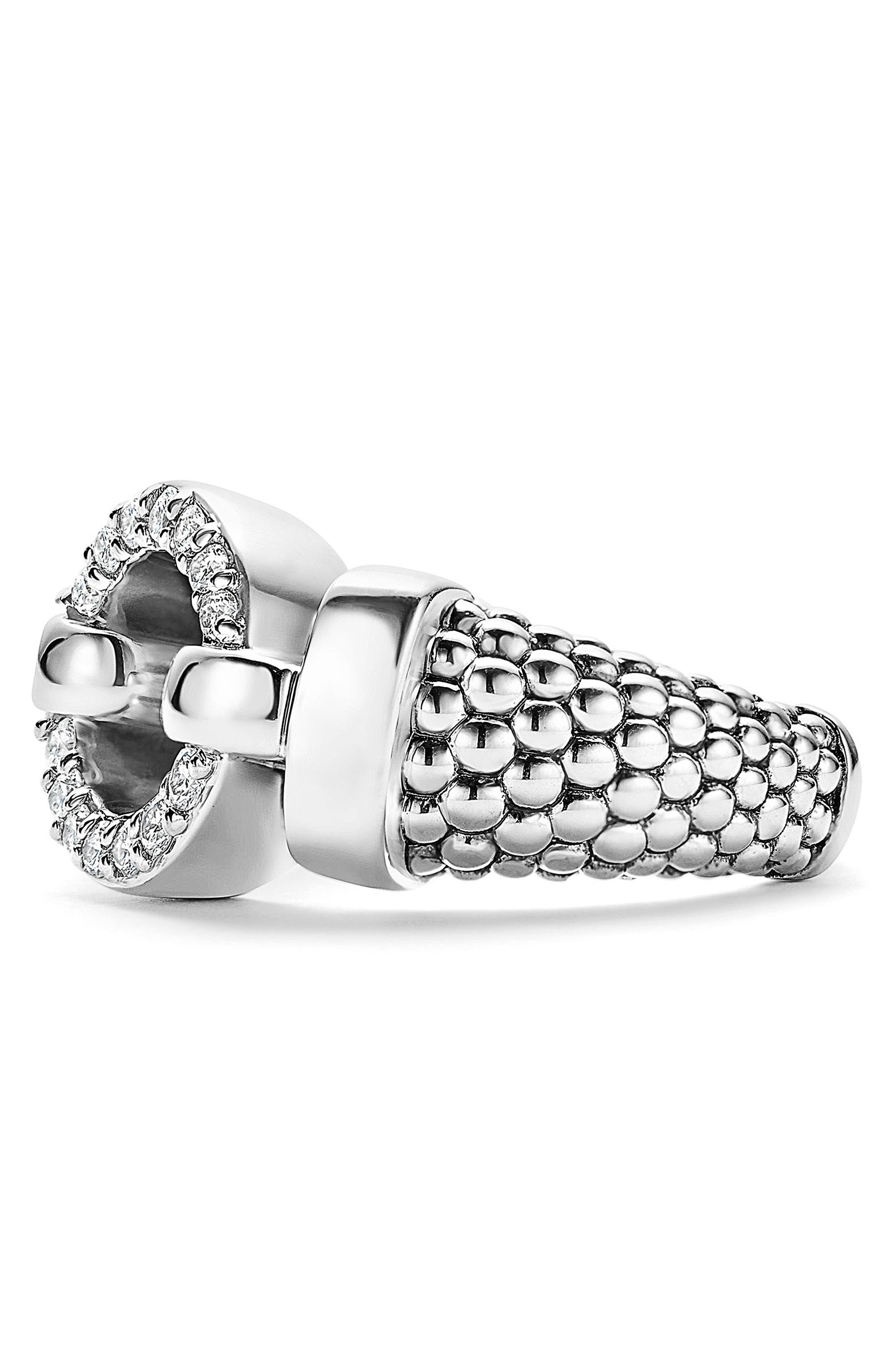 'Enso - Circle Game' Diamond Caviar Ring,                             Alternate thumbnail 3, color,                             040