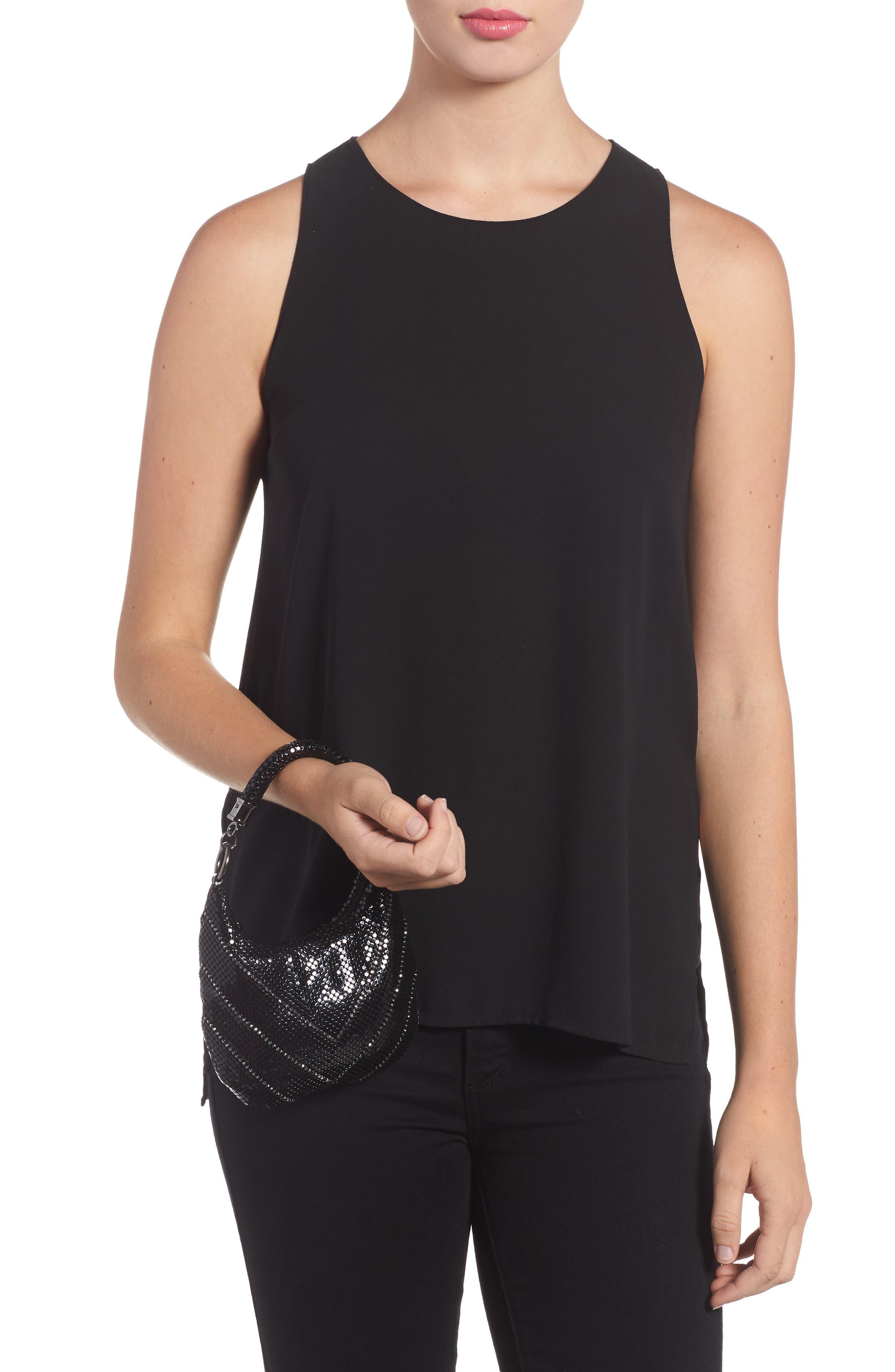 Little Black Mesh Shoulder Bag,                             Alternate thumbnail 2, color,                             BLACK