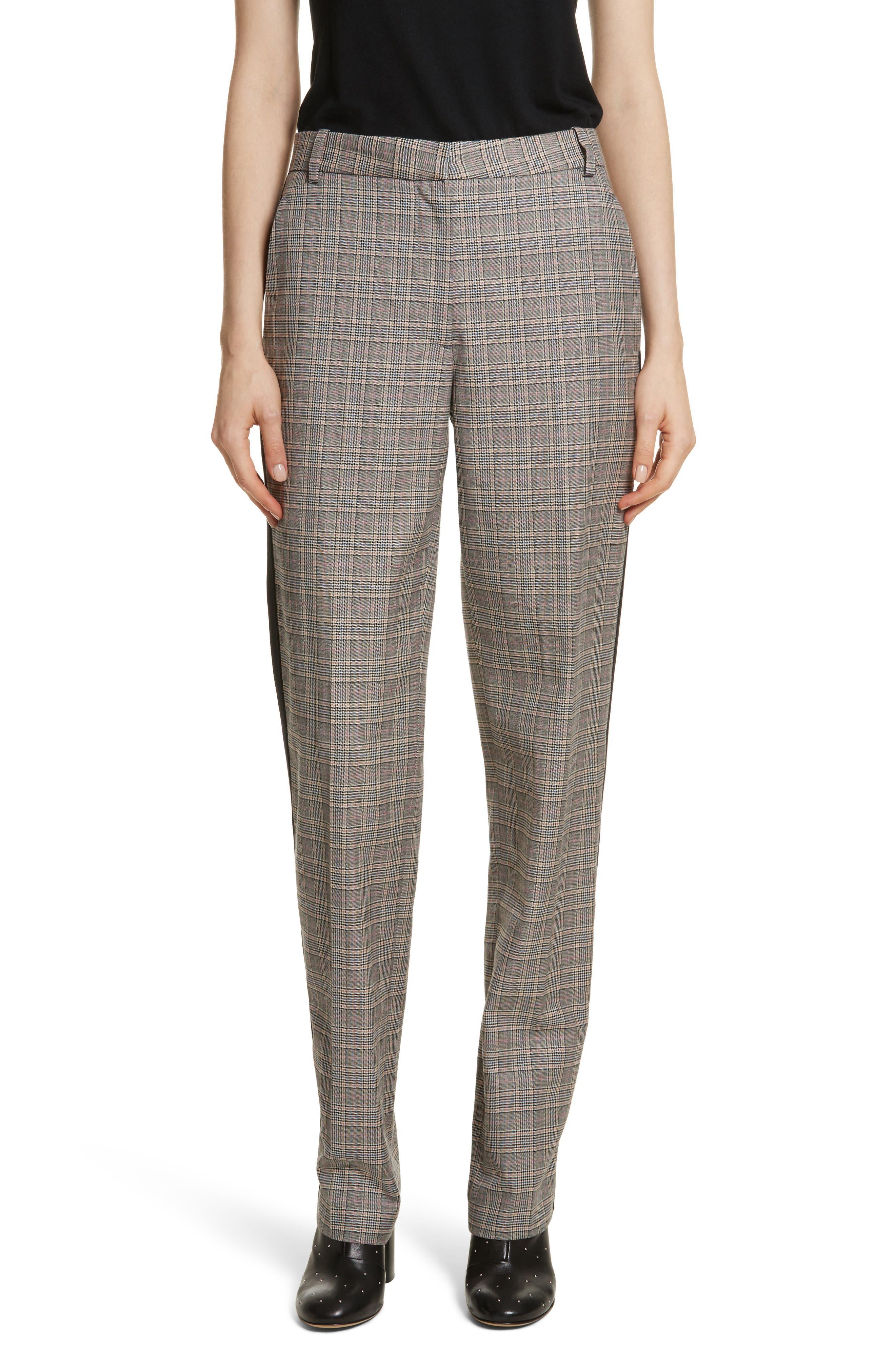 Oman Side Stripe Wool Blend Pants,                             Main thumbnail 1, color,                             017
