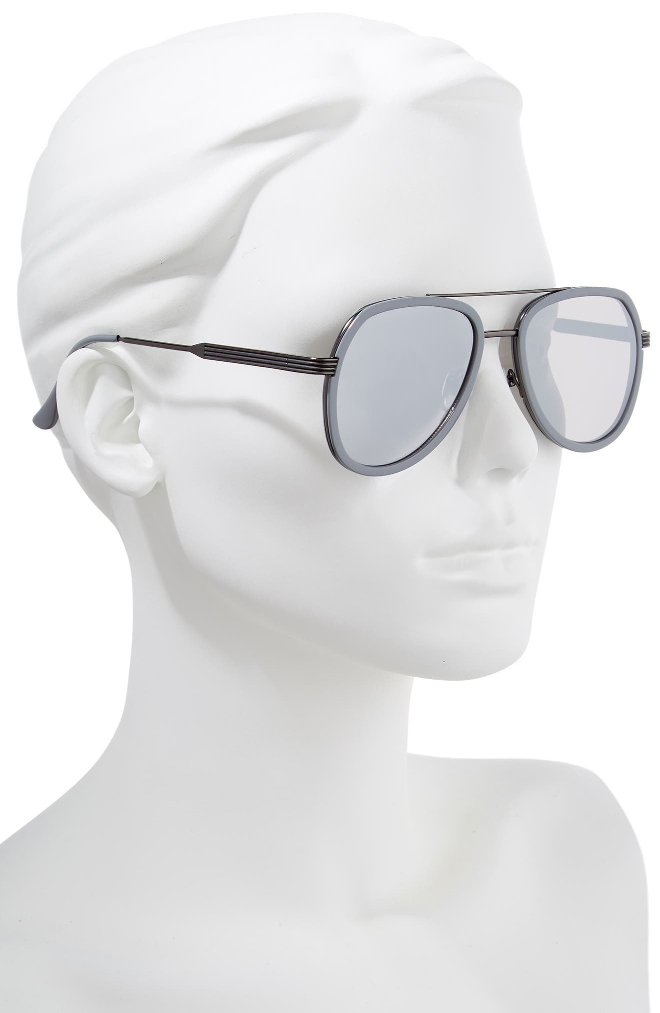 50mm Aviator Sunglasses,                             Alternate thumbnail 2, color,                             GREY