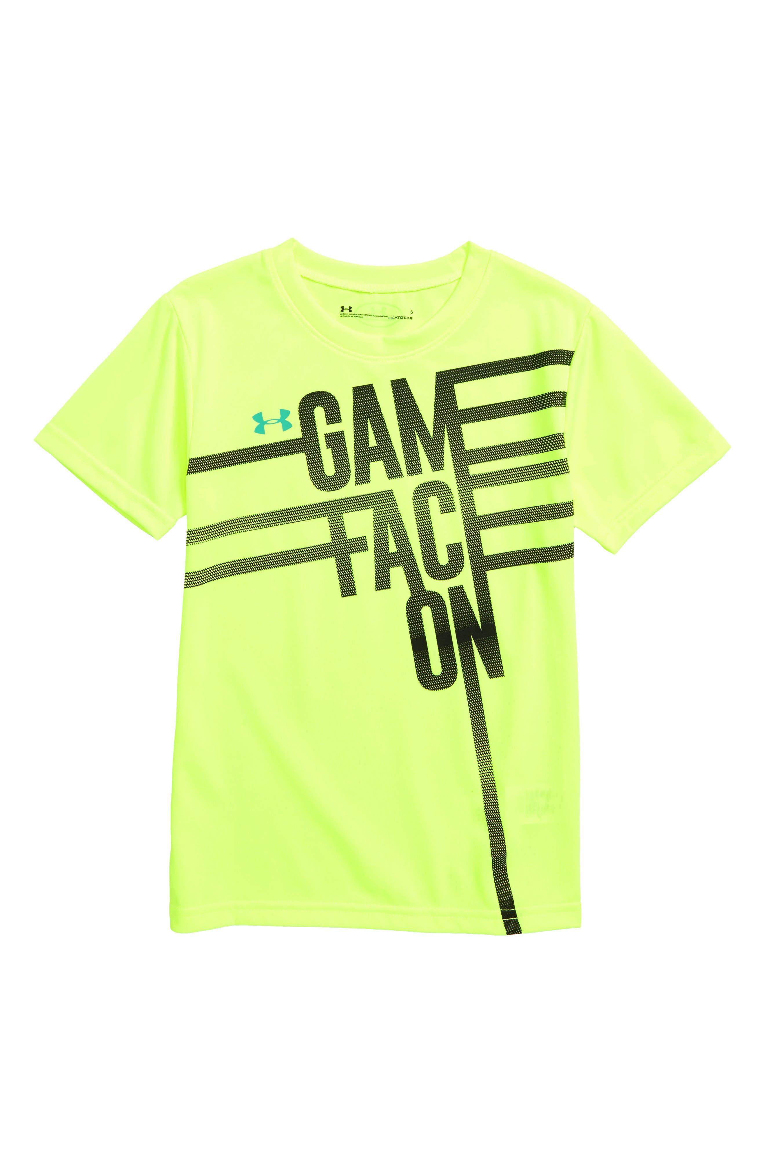 Game Face Graphic T-Shirt,                             Main thumbnail 1, color,                             YELLOW
