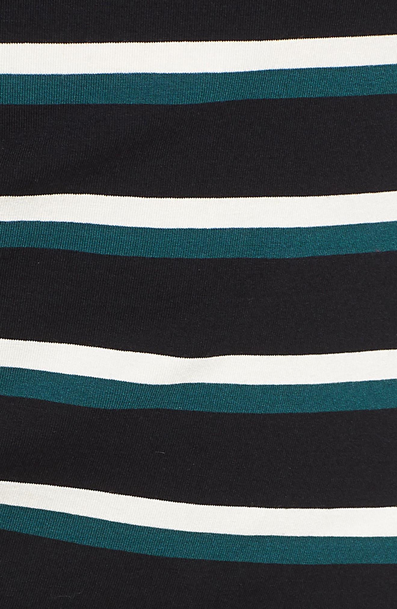 Side Ruched Stripe Tank Dress,                             Alternate thumbnail 6, color,                             300