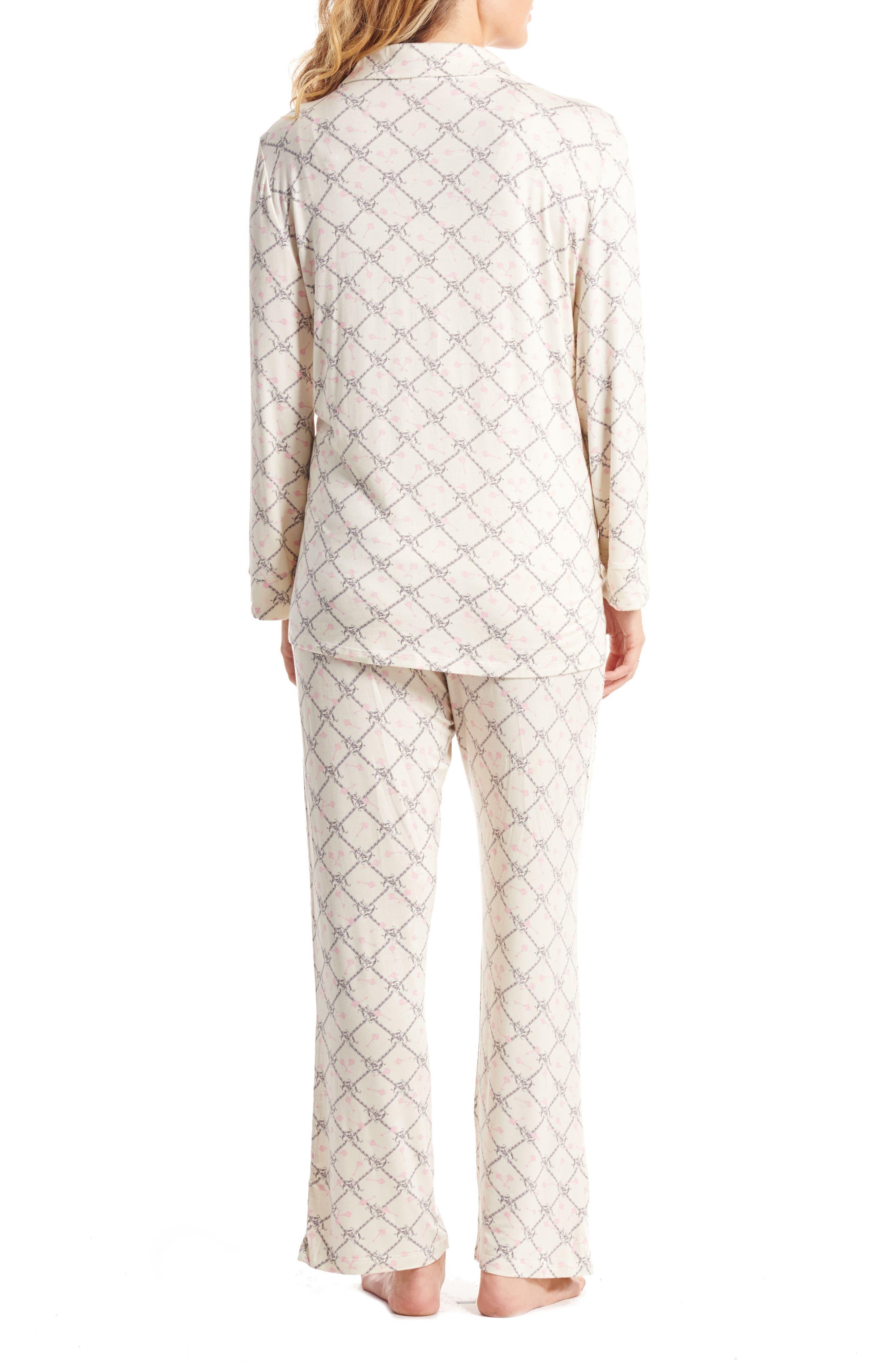 Helena Maternity/Nursing Pajamas,                             Alternate thumbnail 2, color,                             006