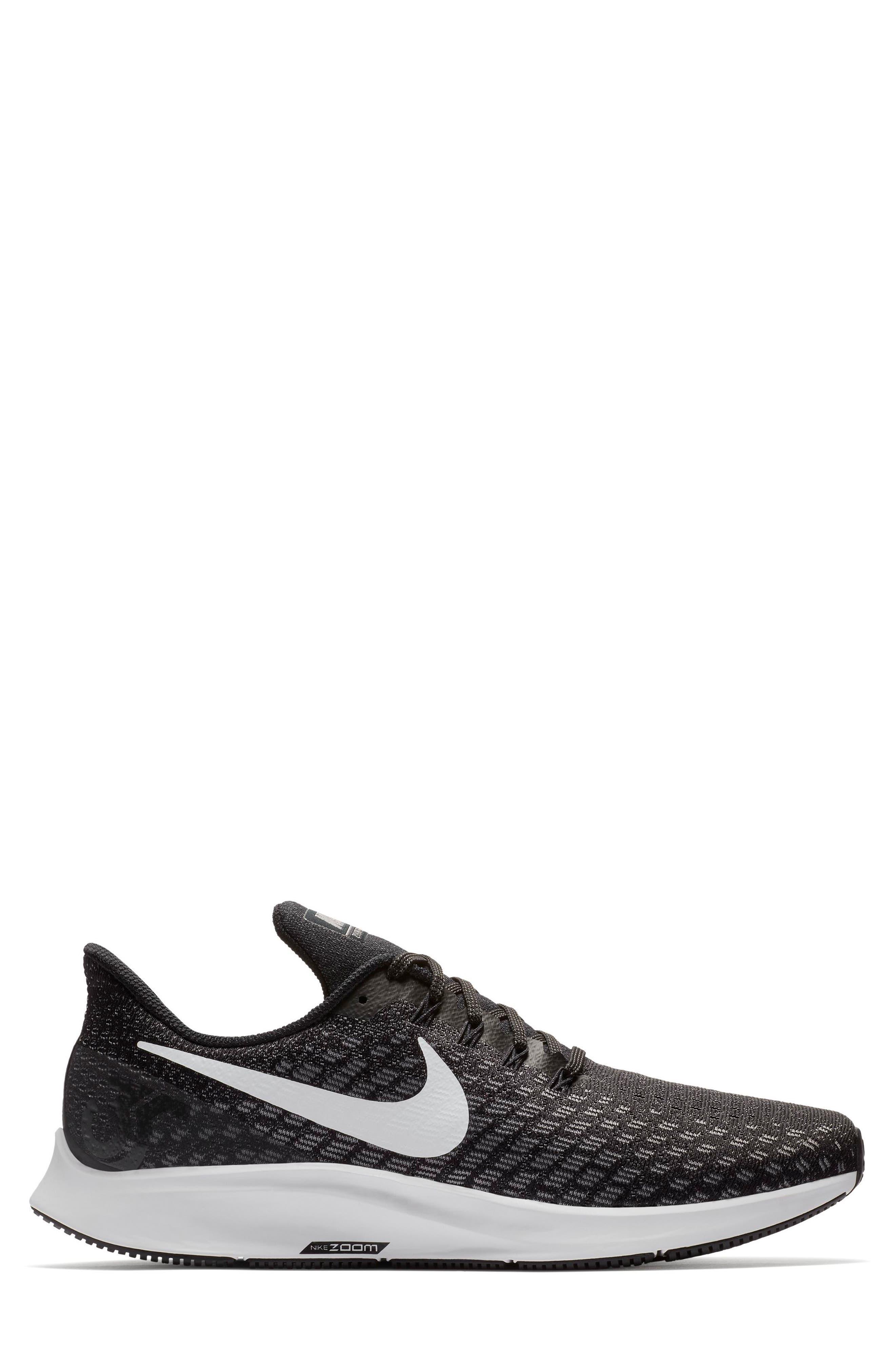 Air Zoom Pegasus 35 Running Shoe,                             Alternate thumbnail 2, color,                             BLACK/ WHITE/ BLACK