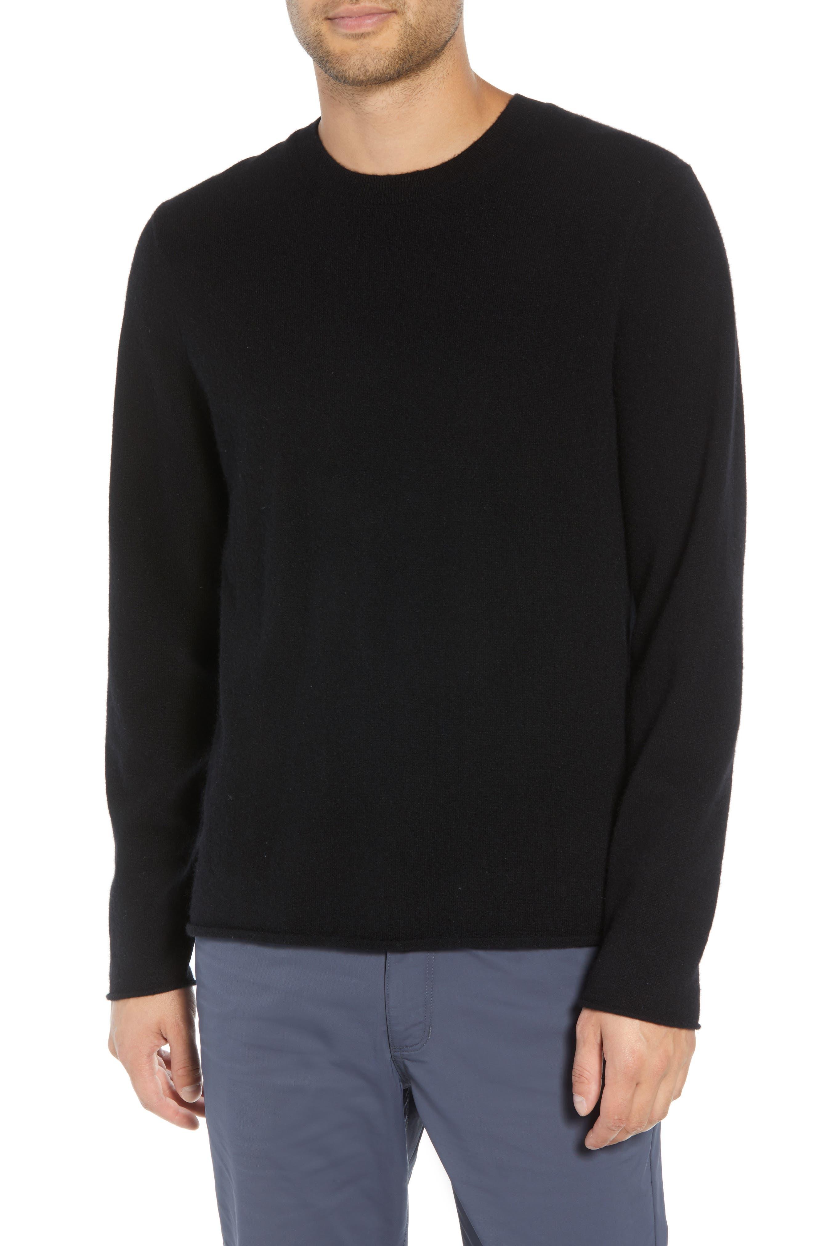 Regular Fit Cashmere Sweater,                             Main thumbnail 1, color,                             BLACK