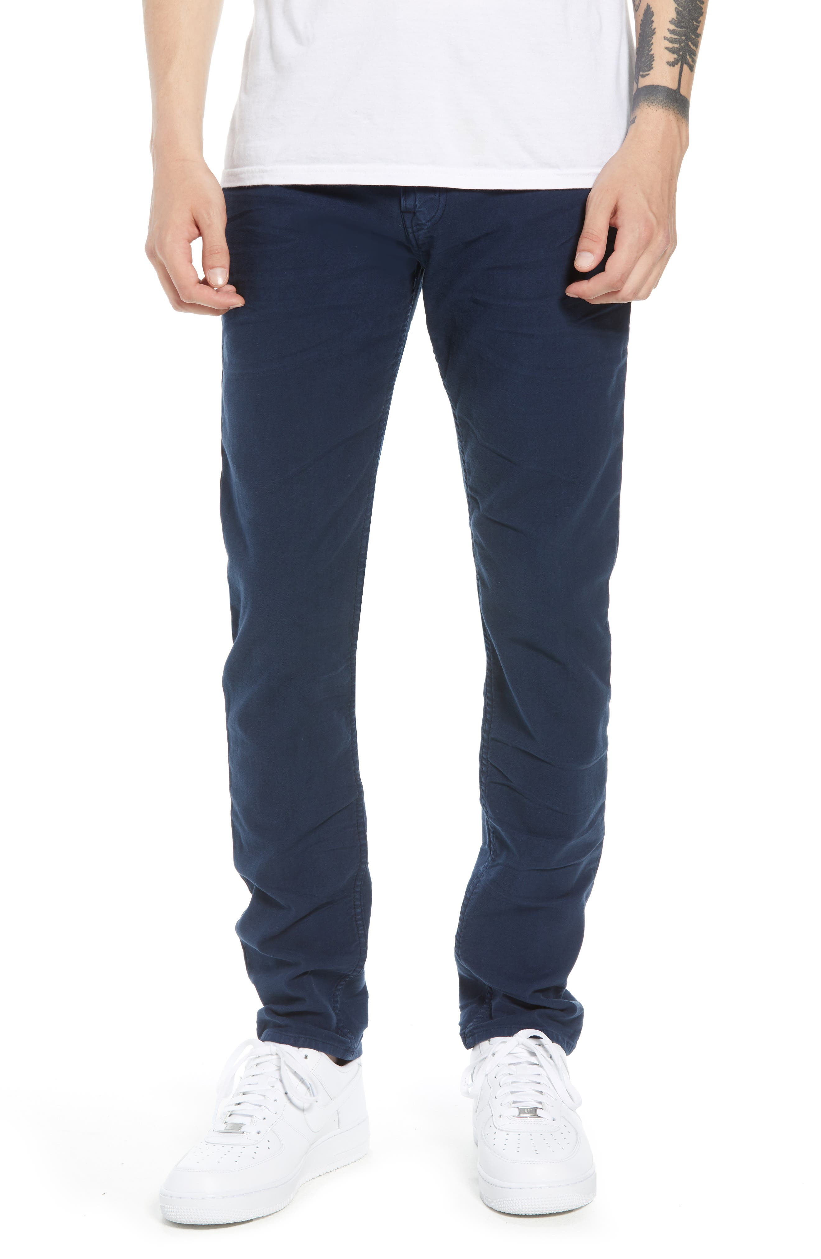 Hudson Axl Skinny Fit Jeans,                         Main,                         color, SAILOR BLUE