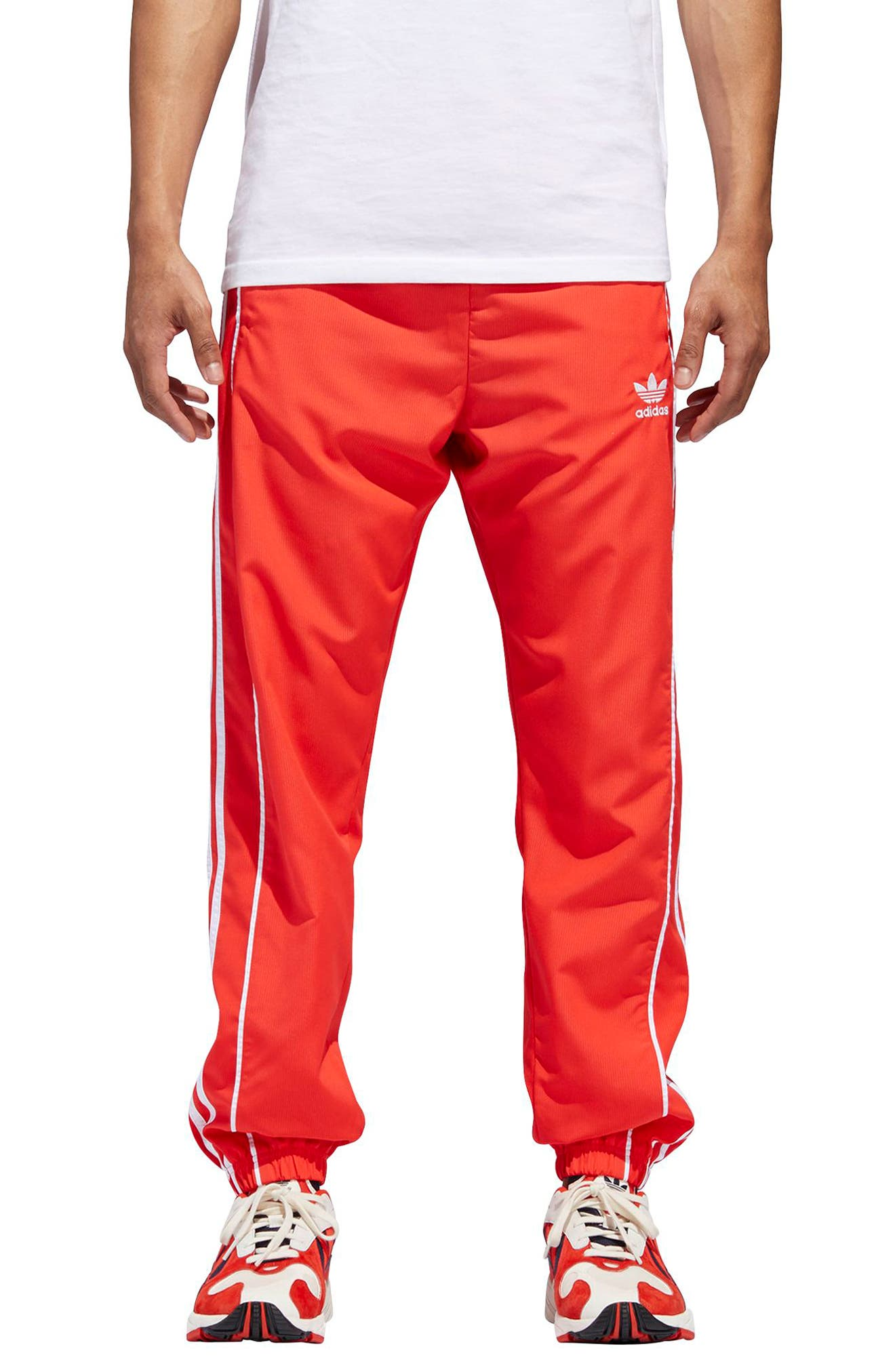 Authentics Ripstop Track Pants,                         Main,                         color, HI-RES RED/ WHITE