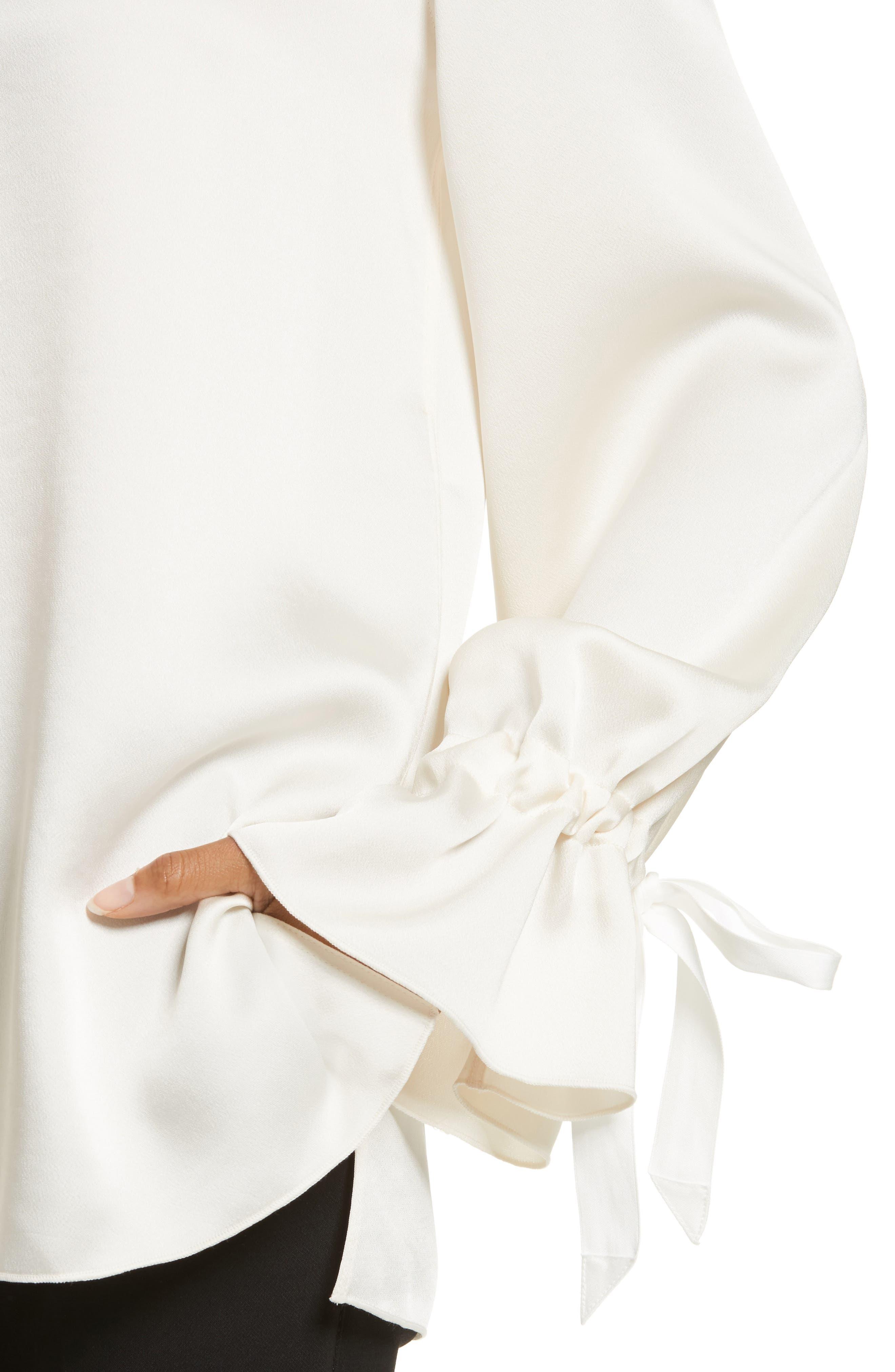 Adalina Tie Cuff Blouse,                             Alternate thumbnail 4, color,                             900