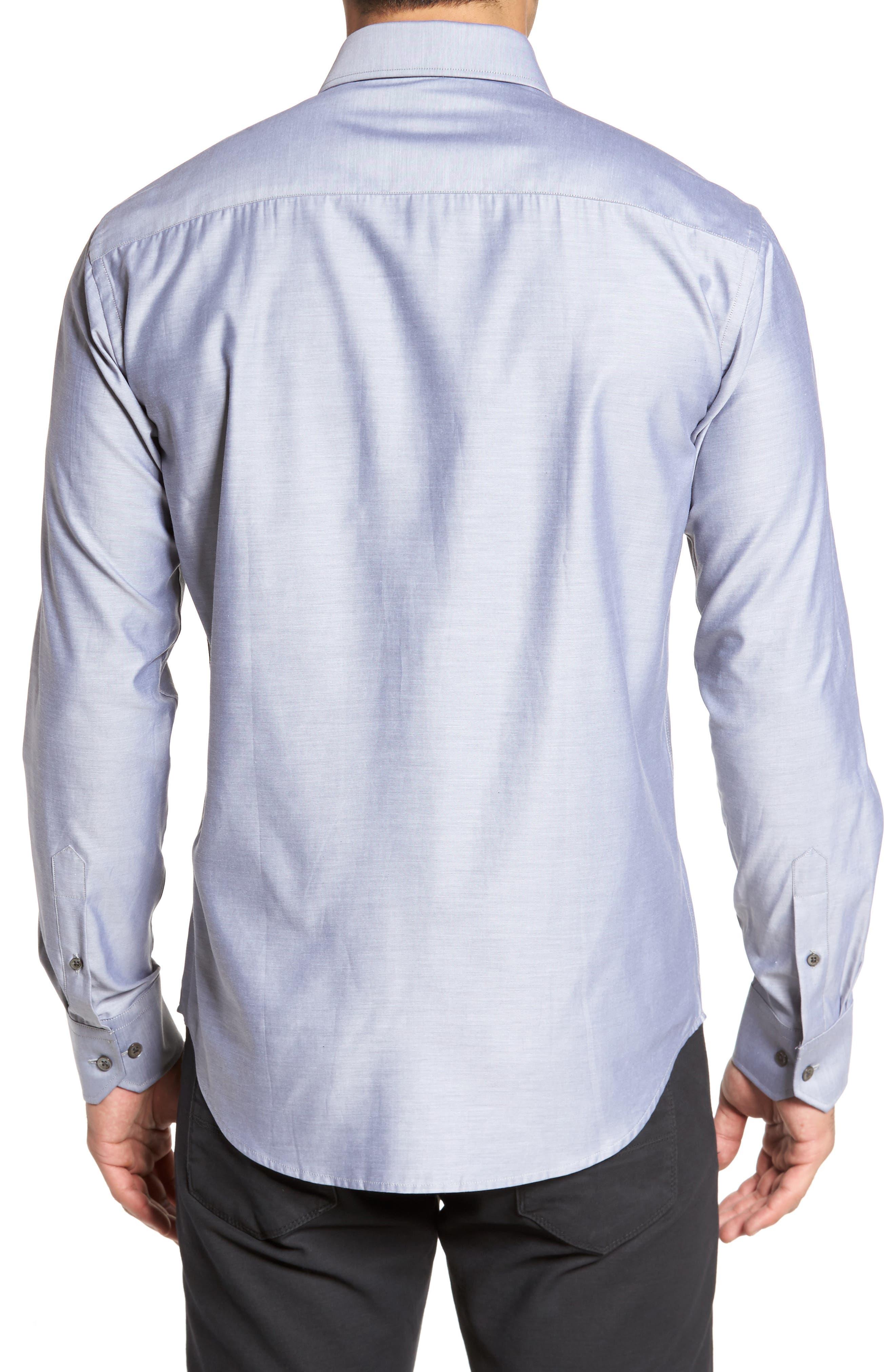 Trim Fit Solid Sport Shirt,                             Alternate thumbnail 5, color,
