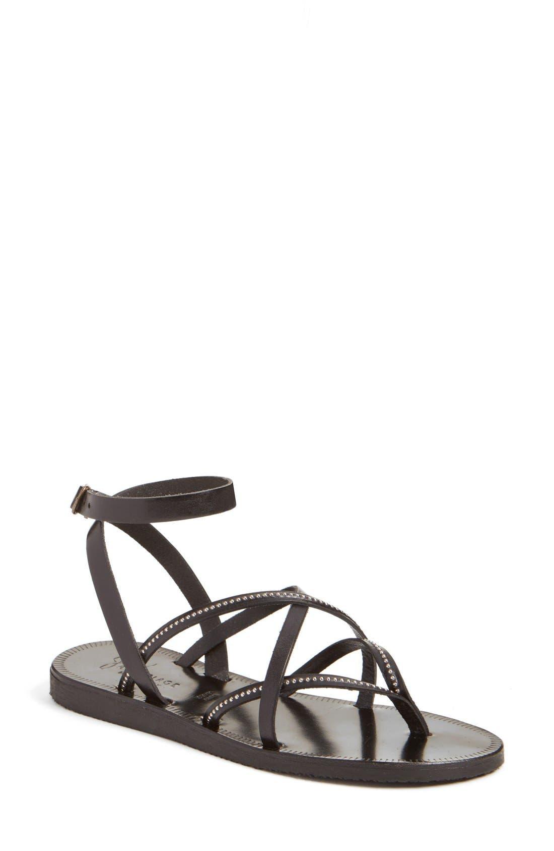 'Oda' Flat Sandal,                         Main,                         color, 003