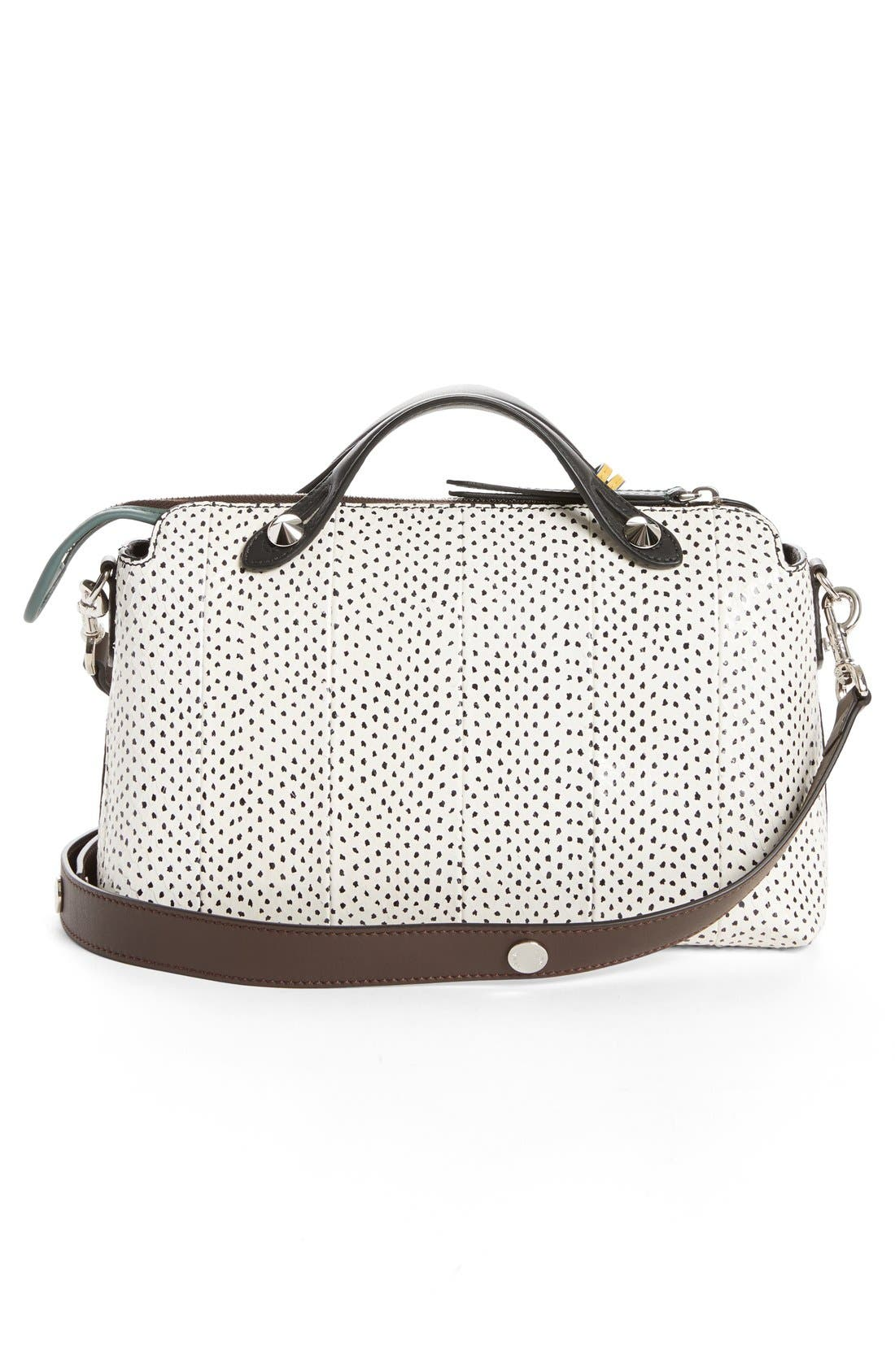 Medium By the Way Genuine Snakeskin Satchel,                             Alternate thumbnail 4, color,                             143
