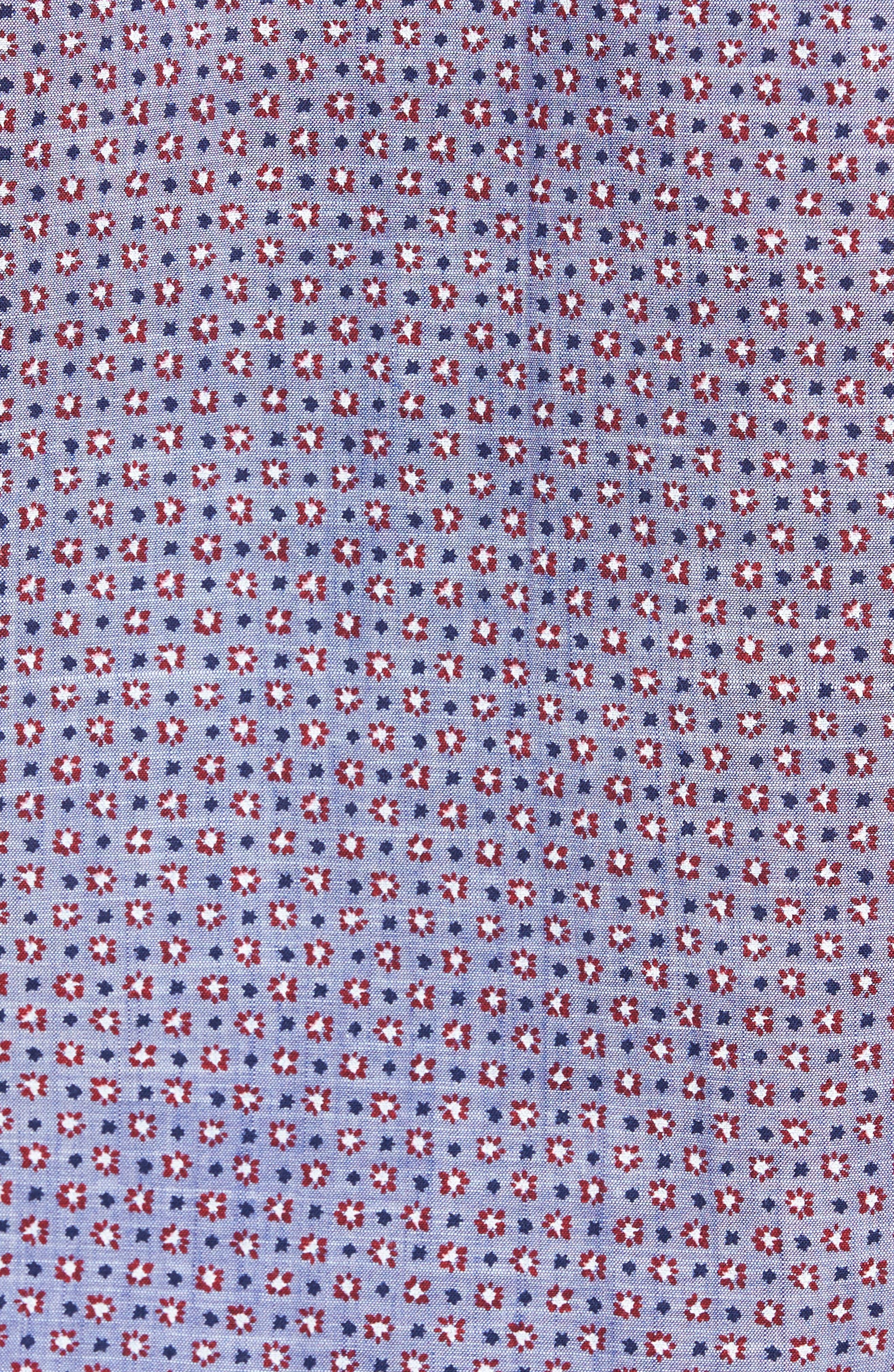 Chernow Trim Fit Print Sport Shirt,                             Alternate thumbnail 5, color,                             412