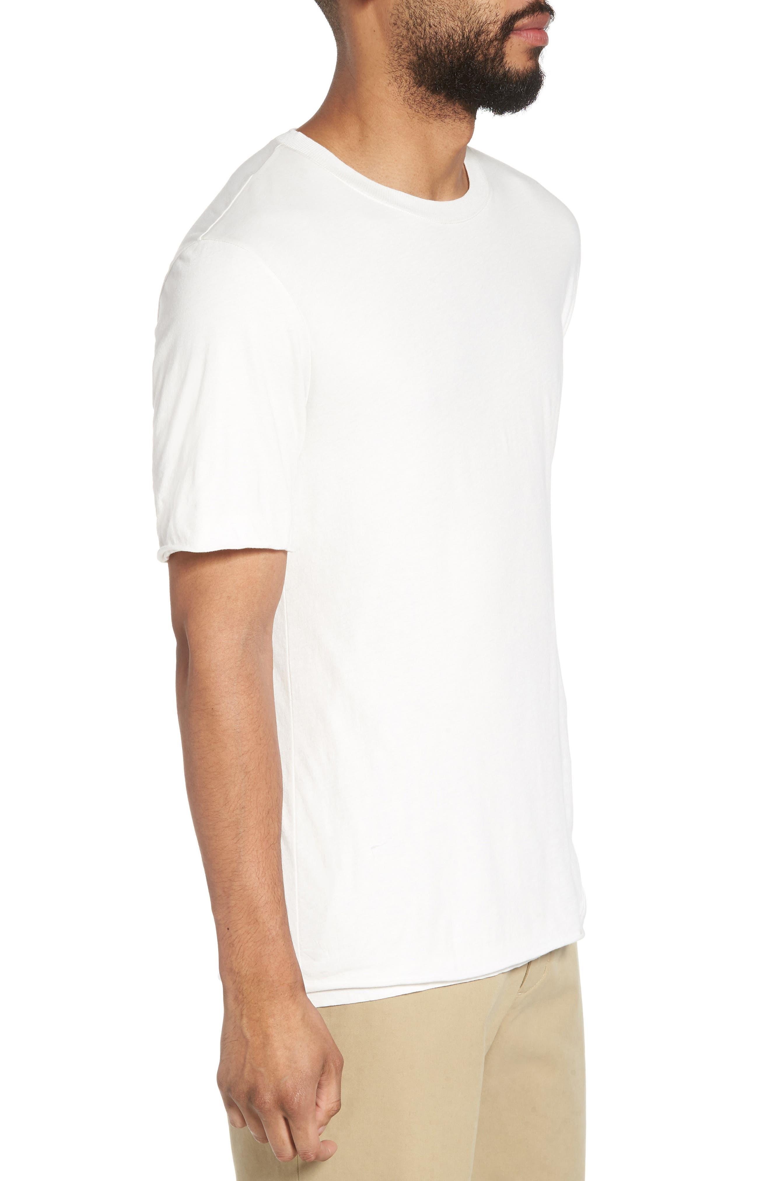 Double Layer Slim Fit T-Shirt,                             Alternate thumbnail 3, color,                             100