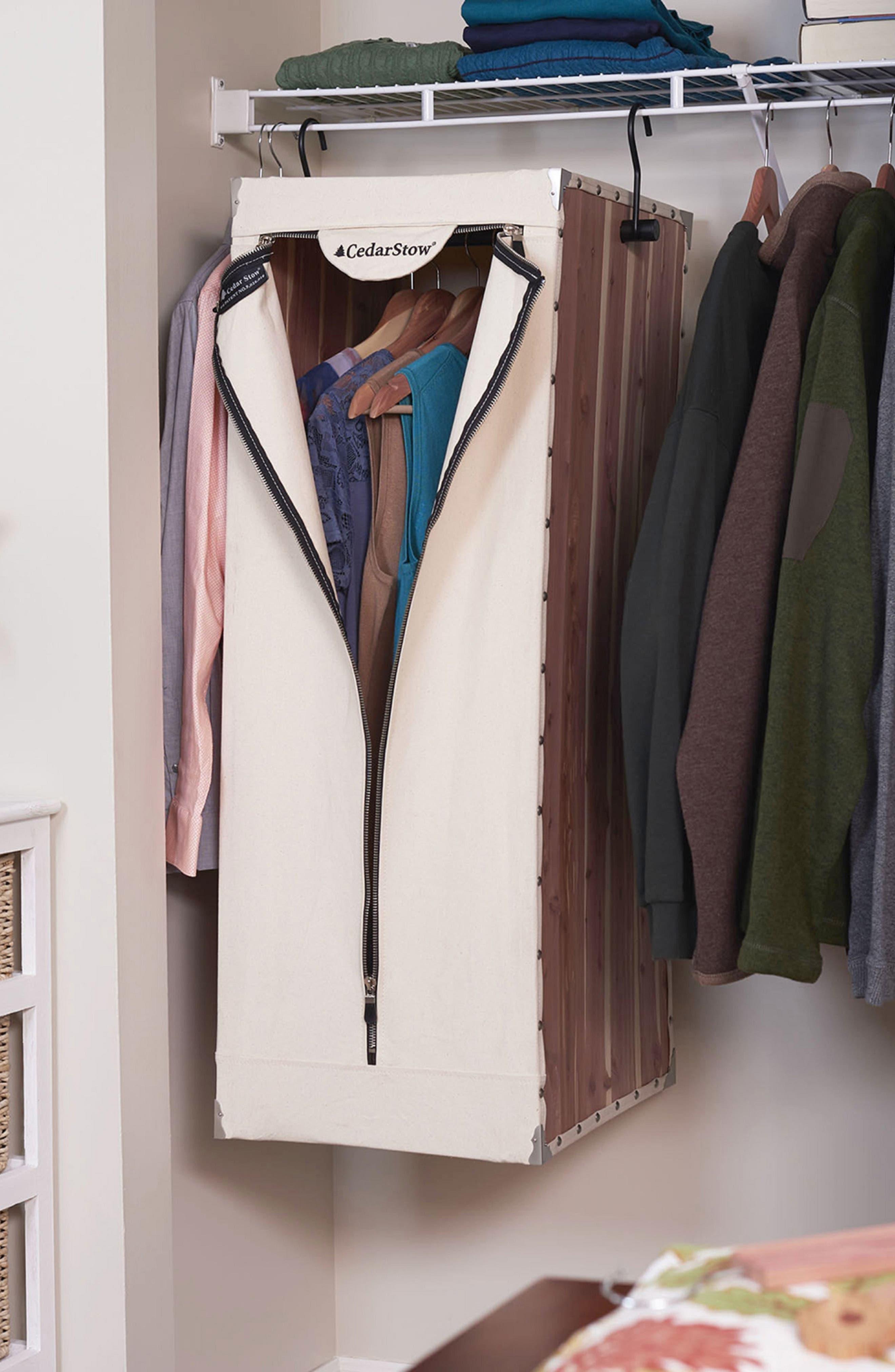 CedarStow Clothing Wardrobe,                             Alternate thumbnail 5, color,                             BEIGE AND CEDAR
