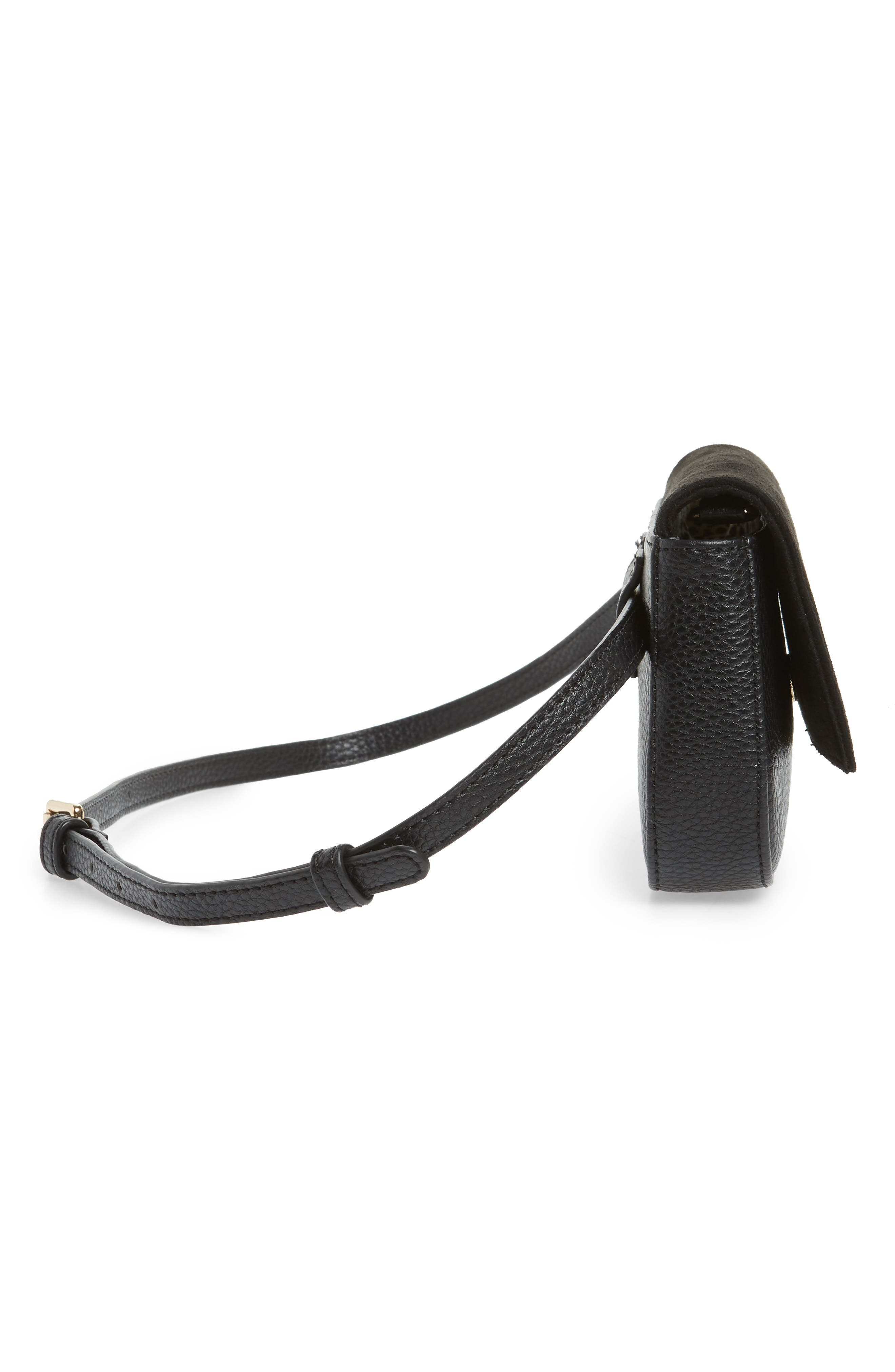 SOLE SOCIETY,                             Kinza Belt Bag,                             Alternate thumbnail 7, color,                             BLACK