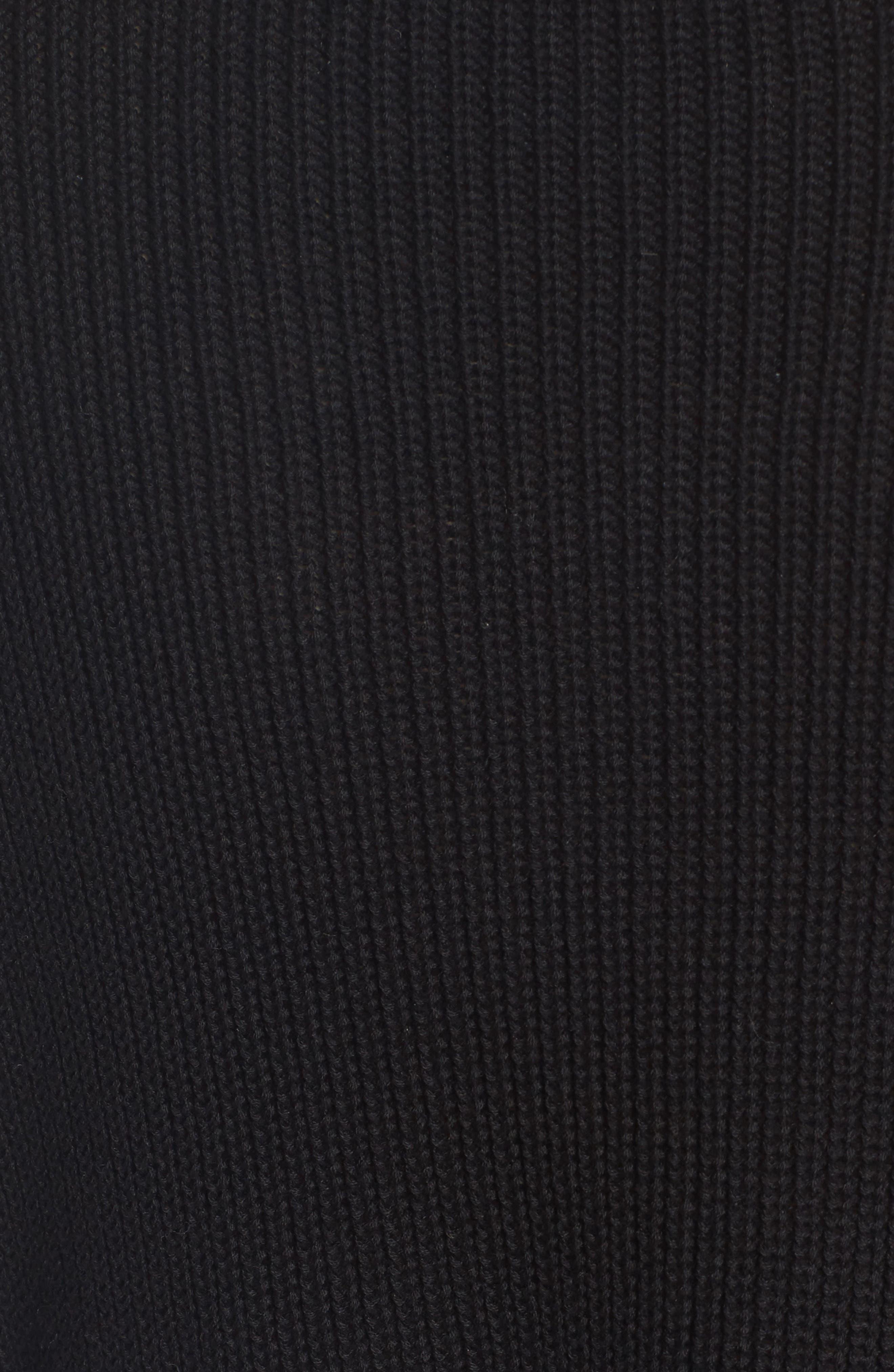 Grommet Sleeve Pullover,                             Alternate thumbnail 5, color,                             001