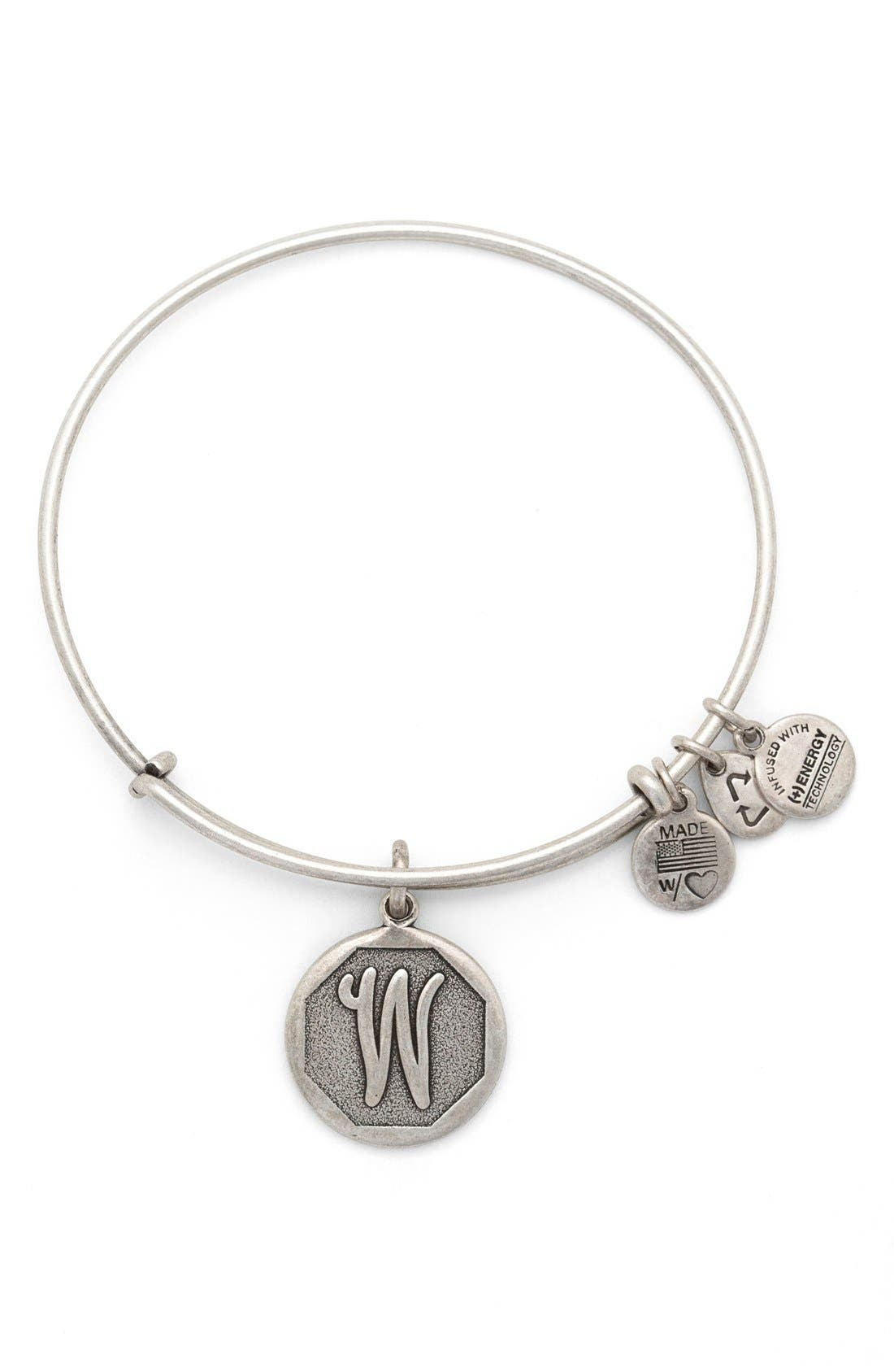 'Initial' Adjustable Wire Bangle,                             Main thumbnail 23, color,