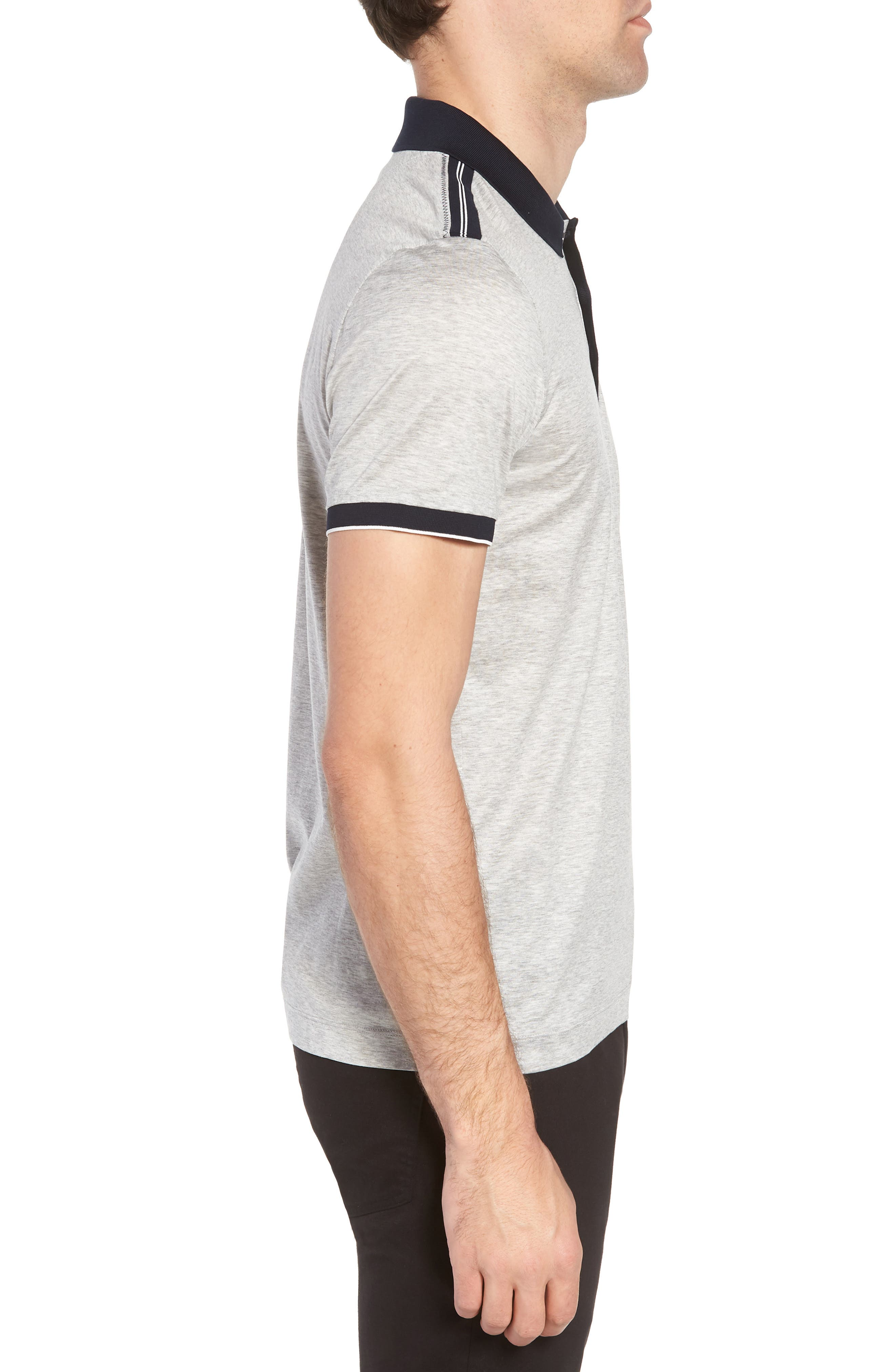 Slim Fit Phillipson Polo,                             Alternate thumbnail 3, color,                             GREY