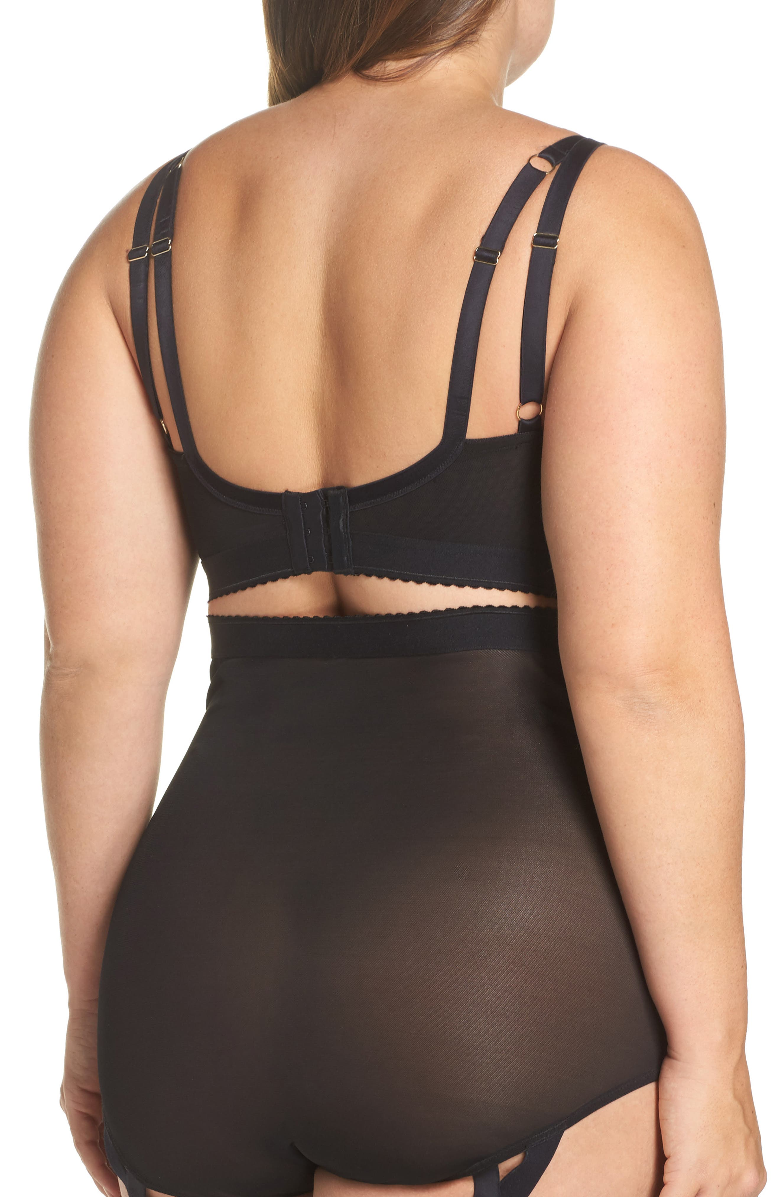 Playful Promies Candace Noir Strappy Underwire Bra,                             Alternate thumbnail 2, color,