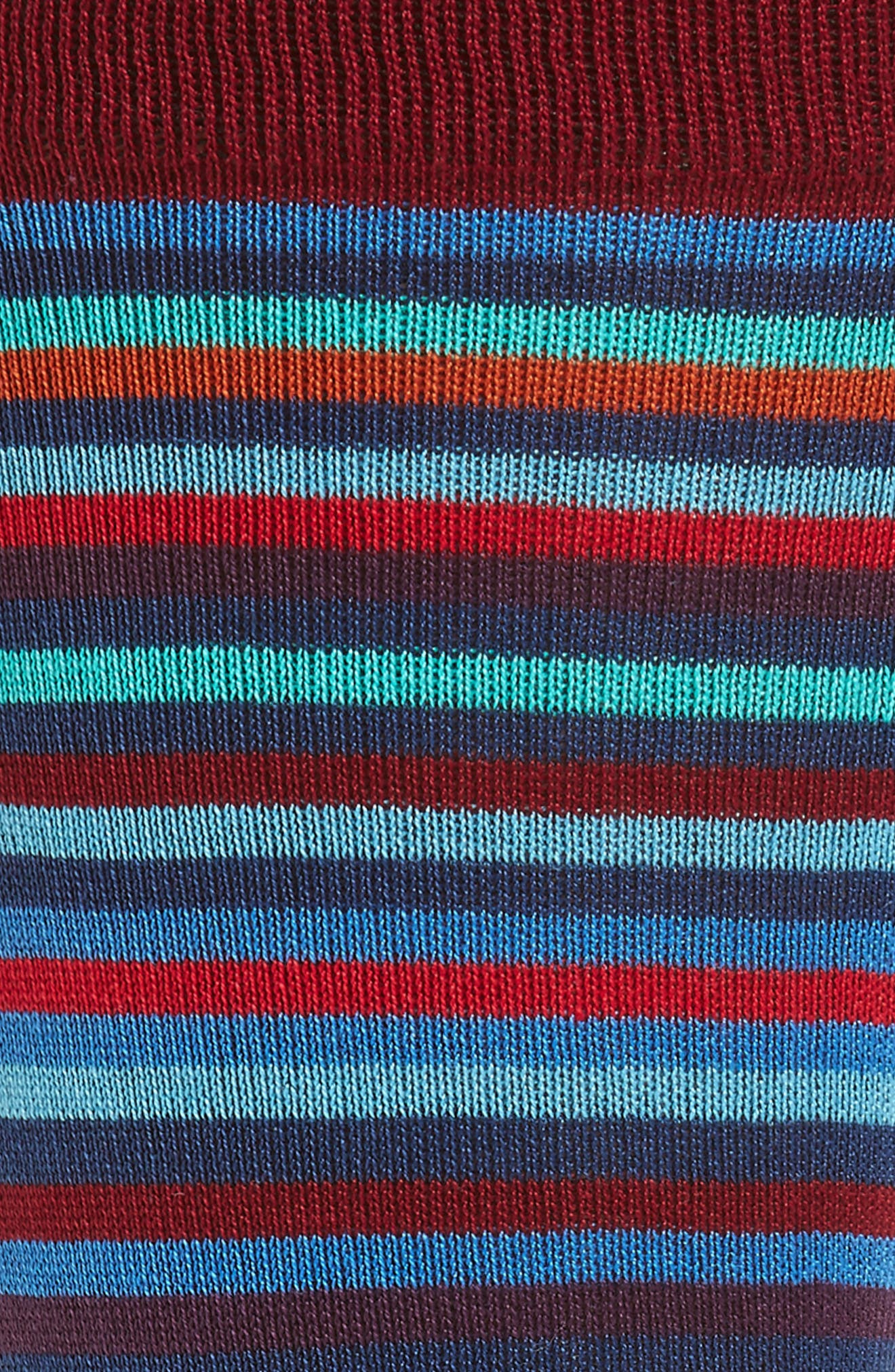 Multi Stripe Crew Socks,                             Alternate thumbnail 7, color,