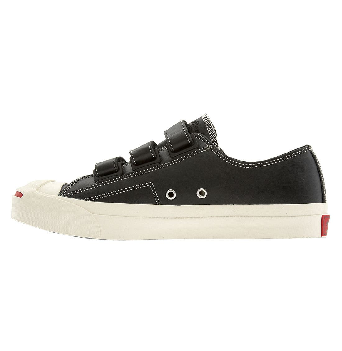 CONVERSE,                             'Jack Purcell' Velcro<sup>®</sup> Sneaker,                             Alternate thumbnail 3, color,                             001