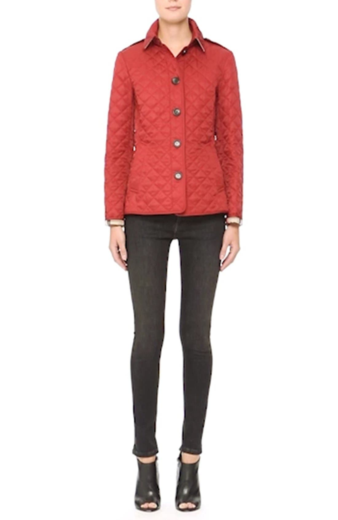 Ashurst Quilted Jacket,                             Alternate thumbnail 2, color,                             PARADE RED
