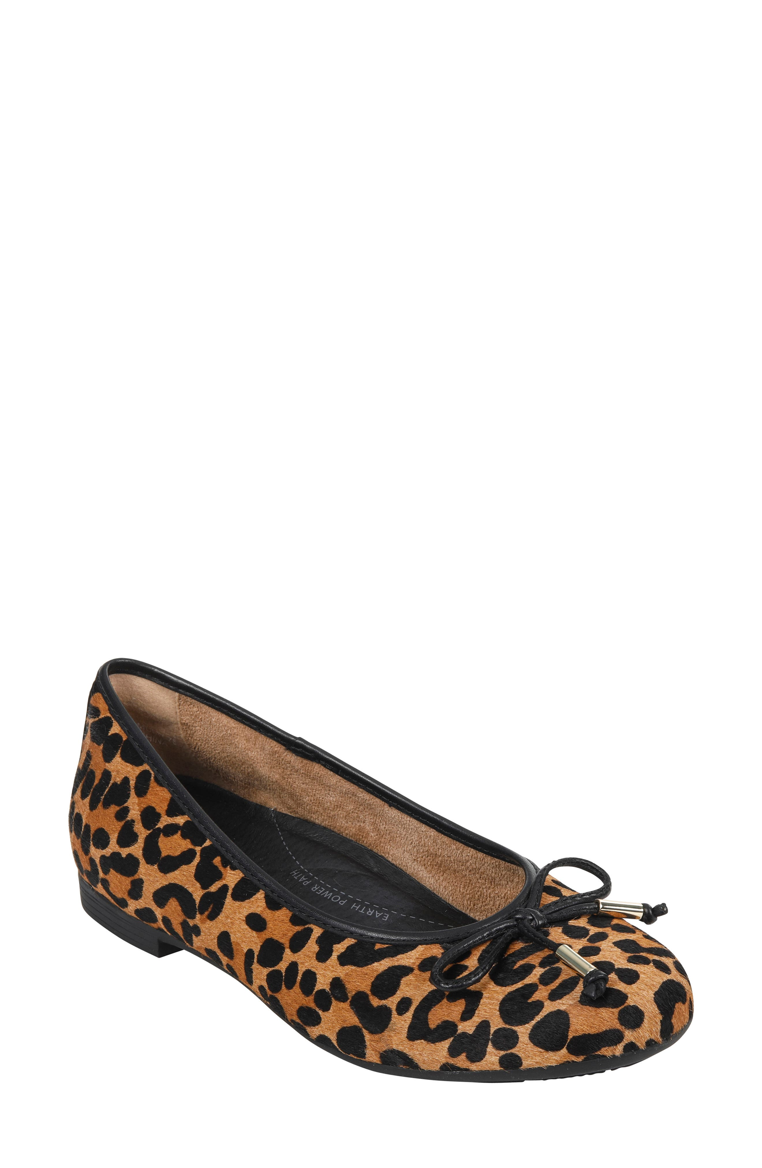 Alina Skimmer Flat,                         Main,                         color, BROWN PRINT LEATHER