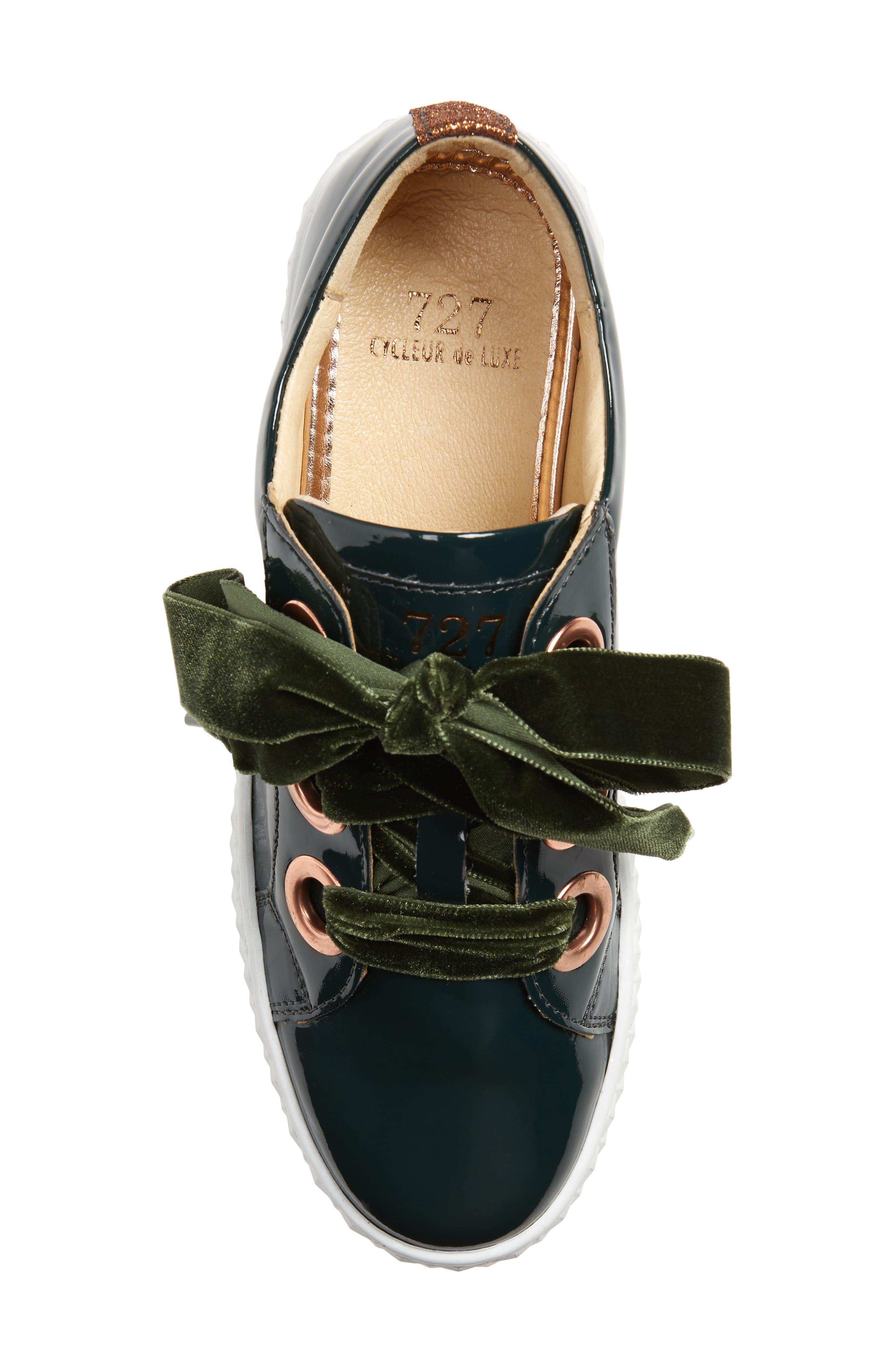 Acton III Sneaker,                             Alternate thumbnail 5, color,                             BOTTLE GREEN LEATHER