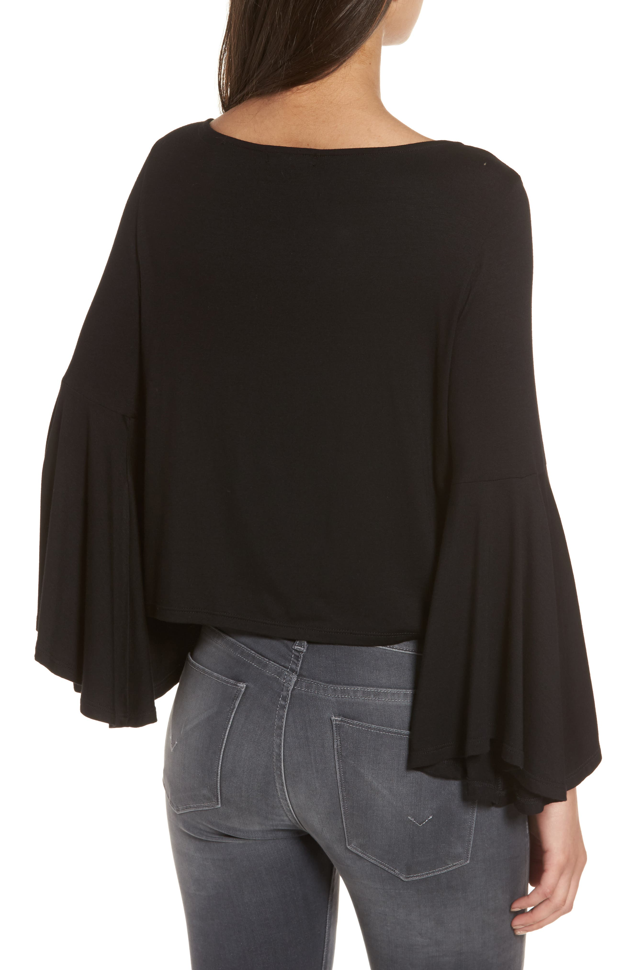Bella Bell Sleeve Top,                             Alternate thumbnail 2, color,                             001