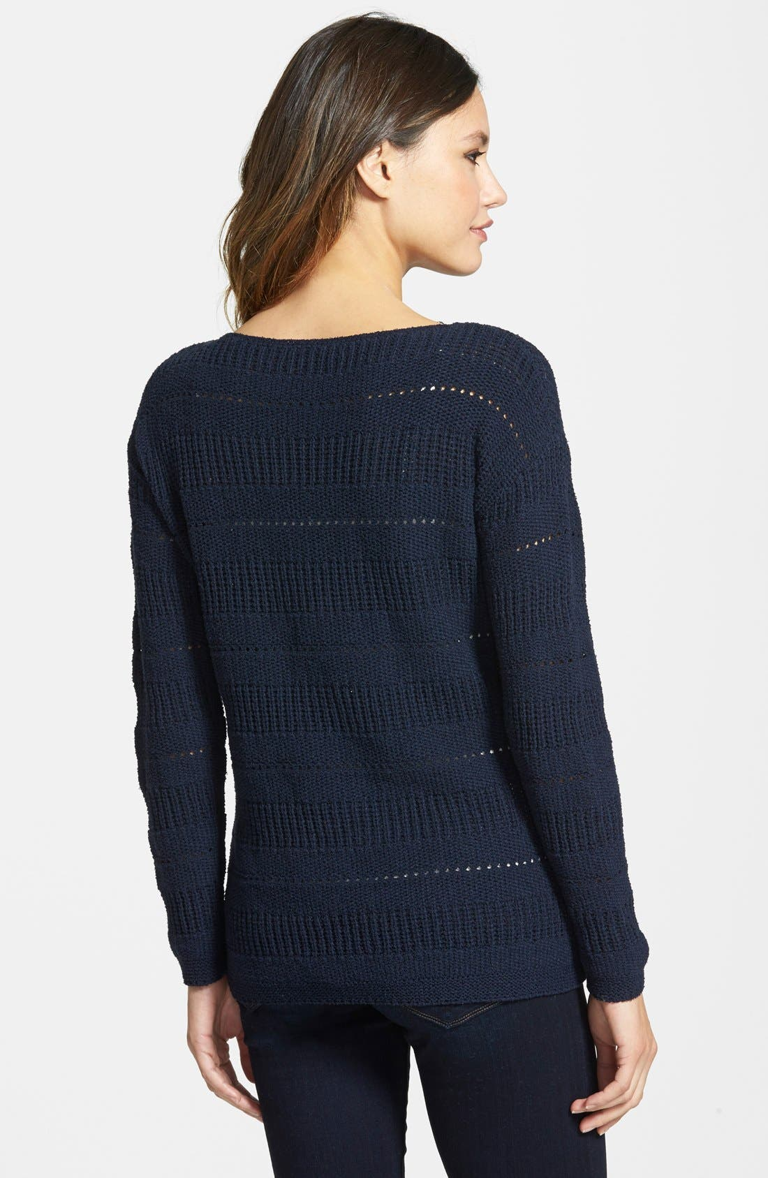 Pointelle Stitch Boatneck Sweater,                             Alternate thumbnail 5, color,