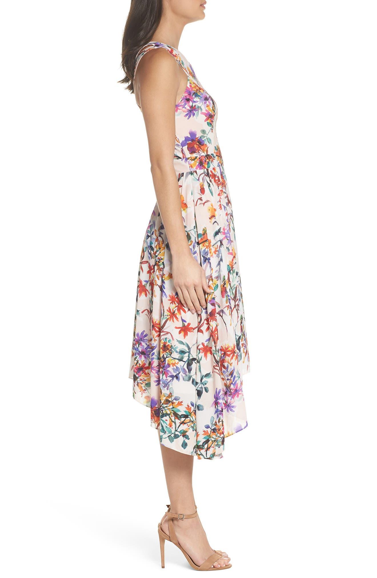 Vanessa Midi Dress,                             Alternate thumbnail 3, color,                             680