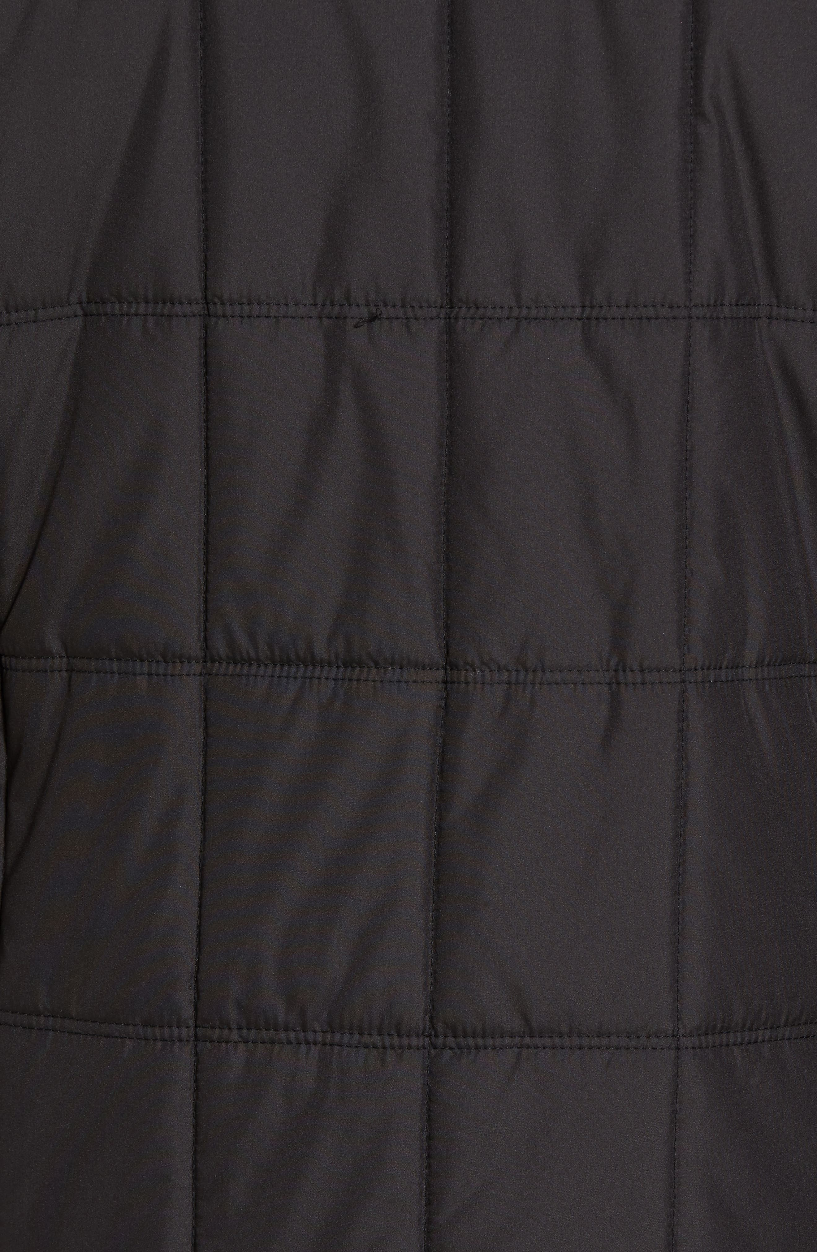 Regular Fit Quilted Jacket,                             Alternate thumbnail 6, color,                             001