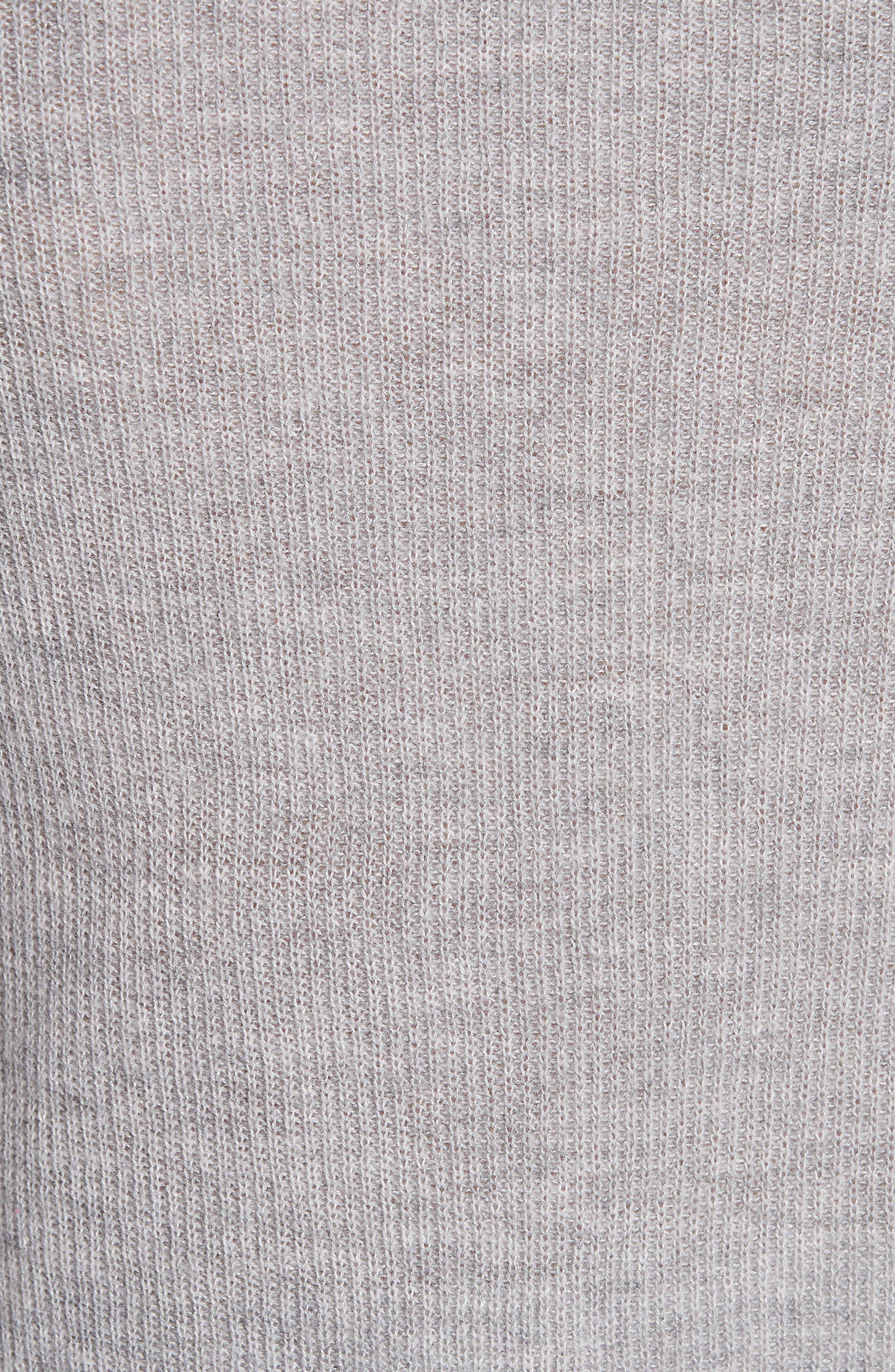Ribbed Cashmere Sweater,                             Alternate thumbnail 5, color,                             H STEEL