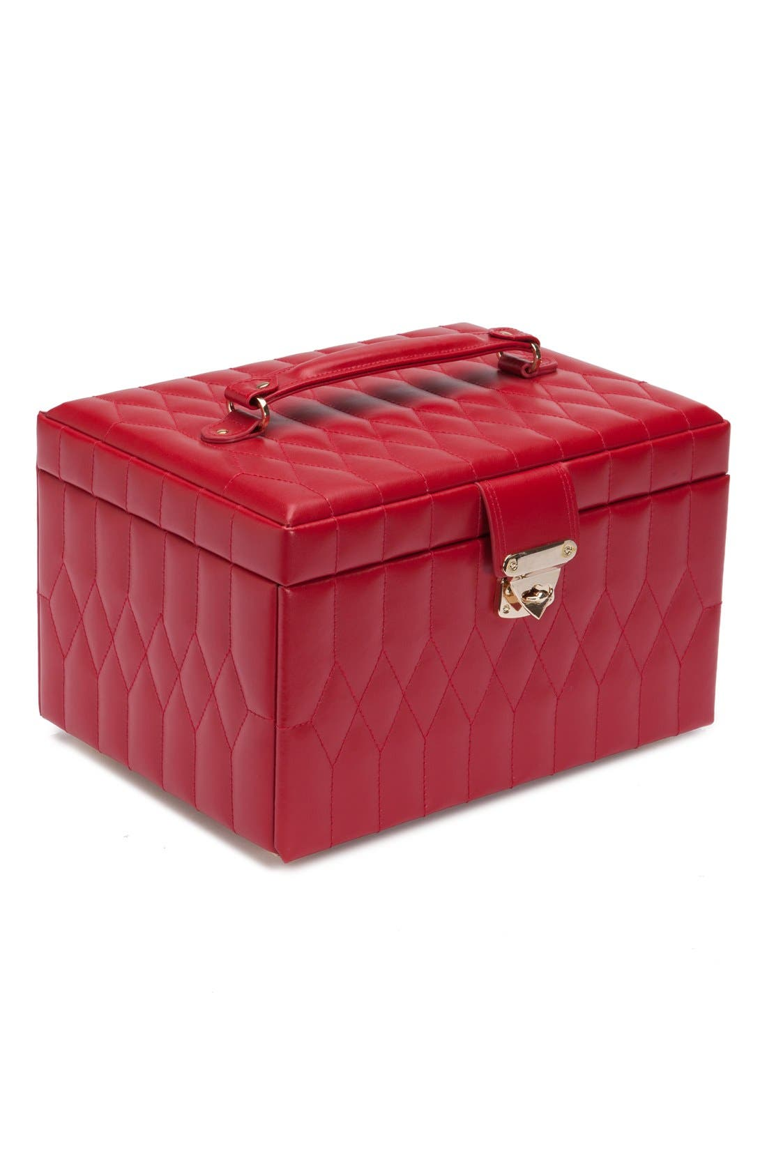 'Caroline' Jewelry Case,                             Alternate thumbnail 6, color,                             RED