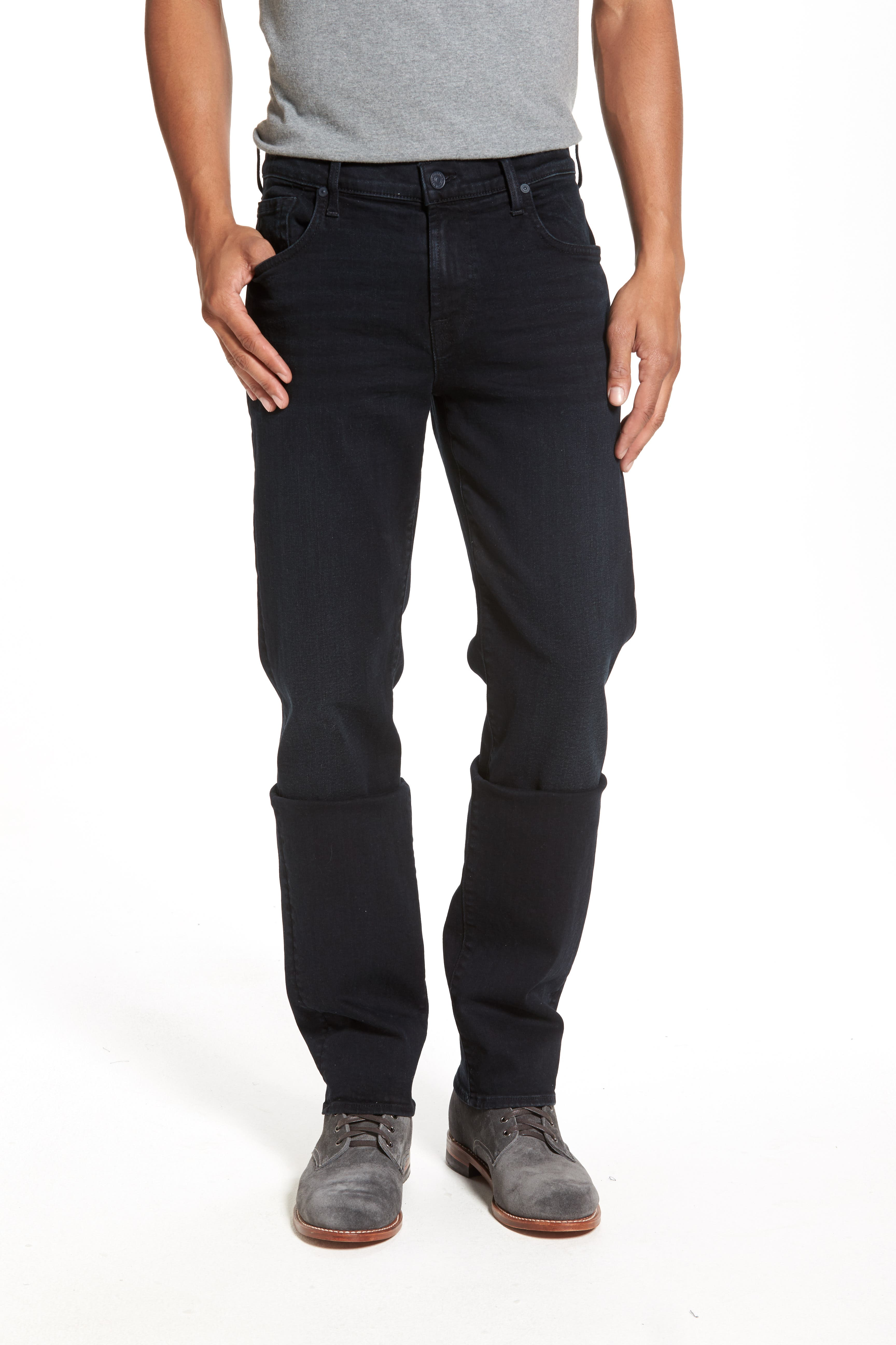 'Standard - Luxe Performance' Straight Leg Jeans,                             Alternate thumbnail 3, color,                             STOCKHOLME