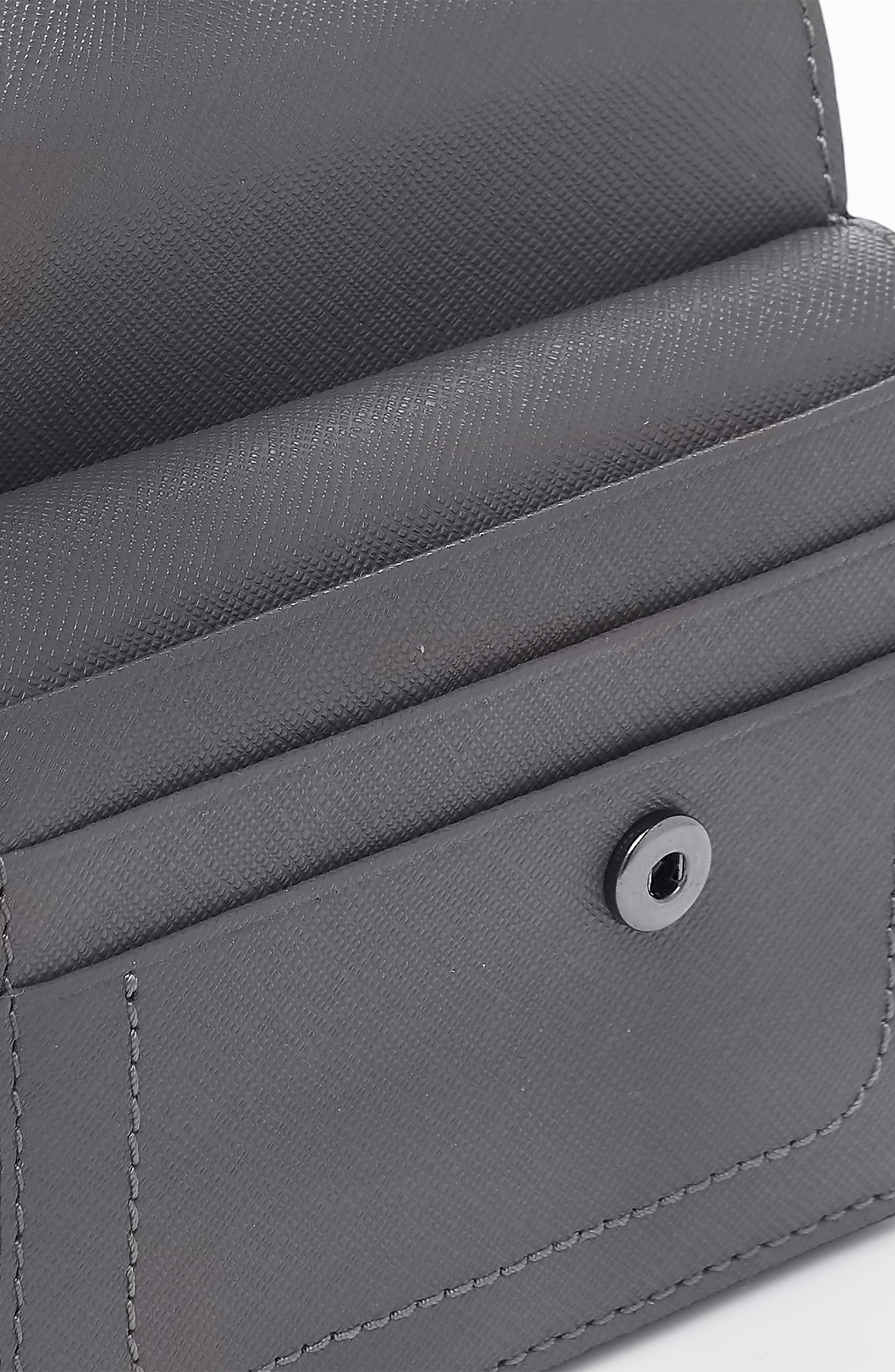 BOTKIER,                             Mini Cobble Hill Colorblock Leather Wallet,                             Alternate thumbnail 4, color,                             PEWTER COMBO