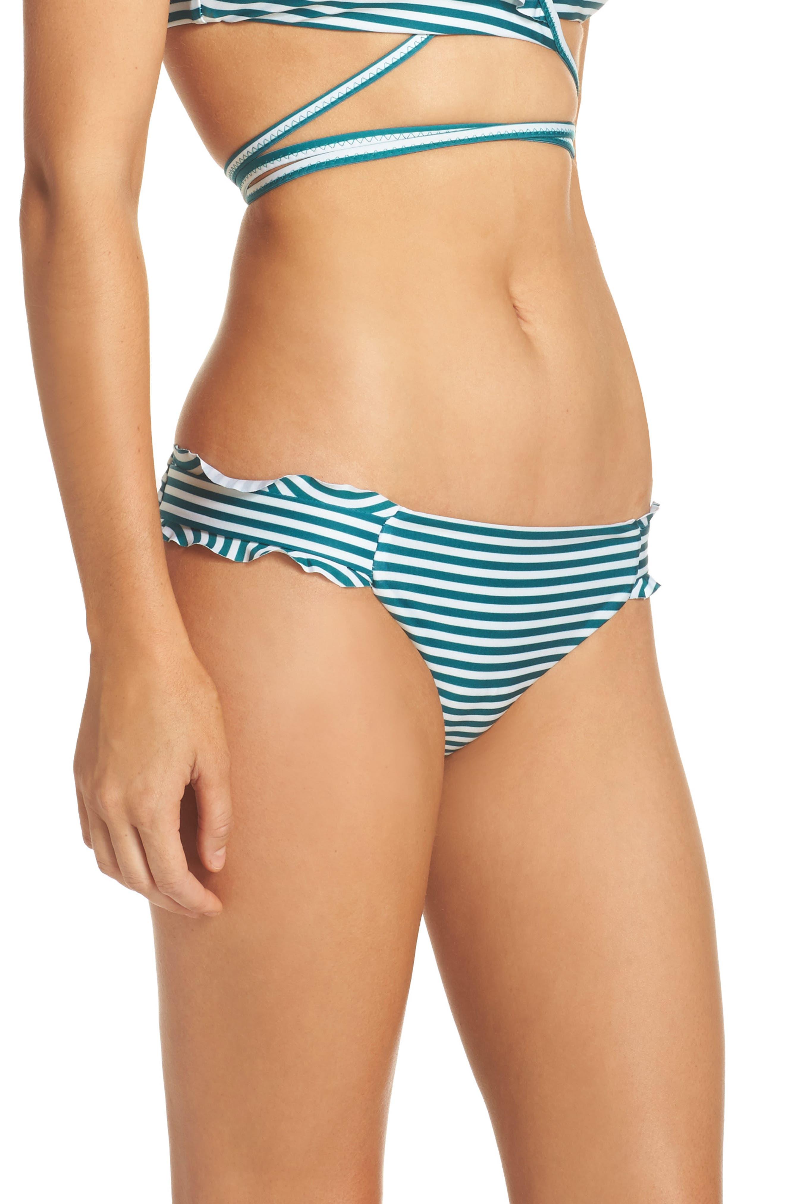 Avalon Ruffle Bikini Bottoms,                             Alternate thumbnail 3, color,                             001