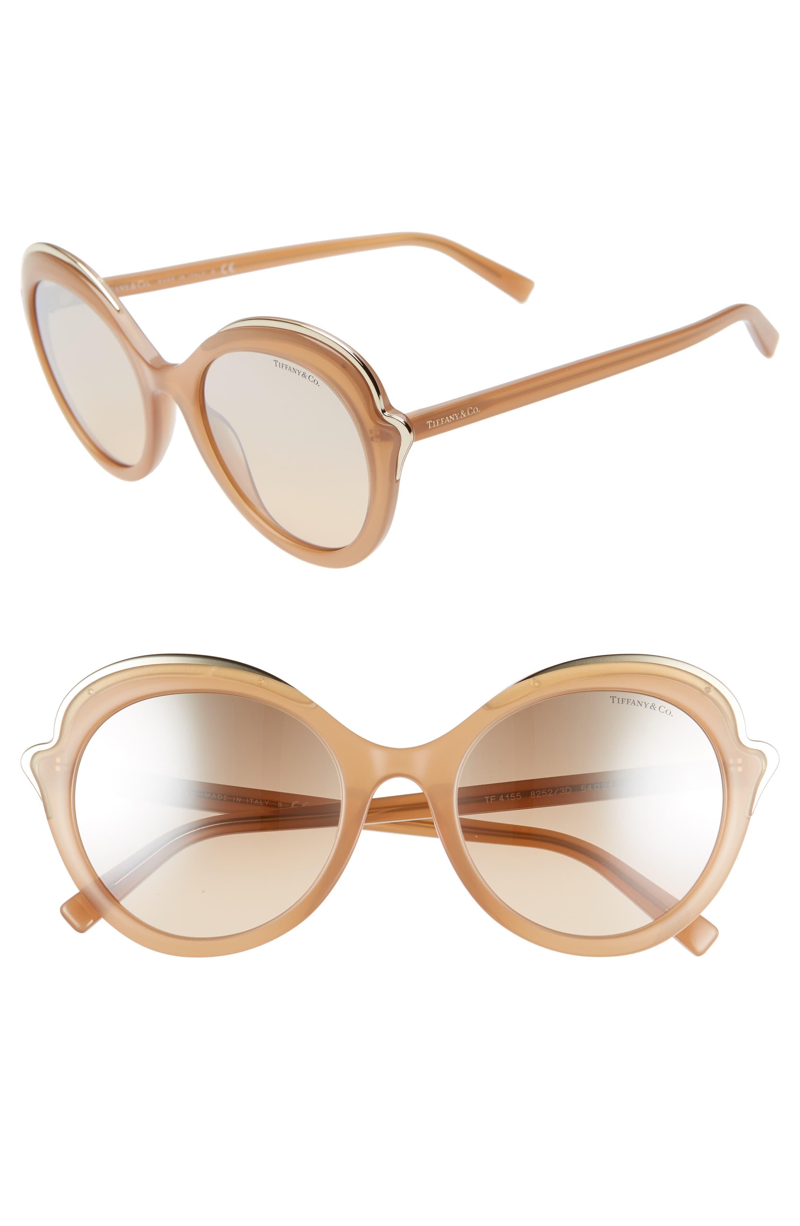 e08cb3c2576 Women s Tiffany   Co. Paper Flowers 54Mm Round Sunglasses -