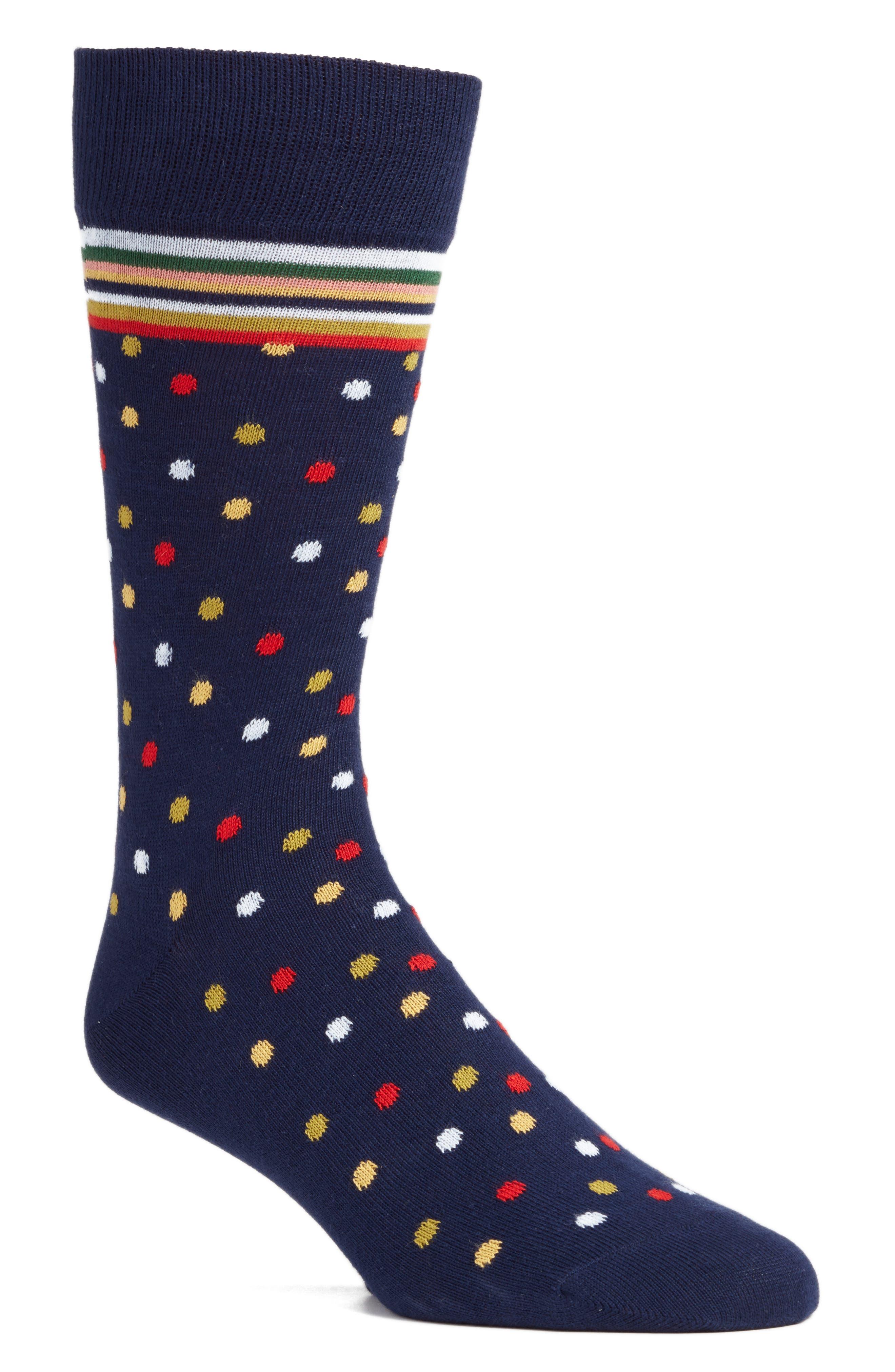 Multi Mixer Dot Crew Socks,                             Main thumbnail 2, color,